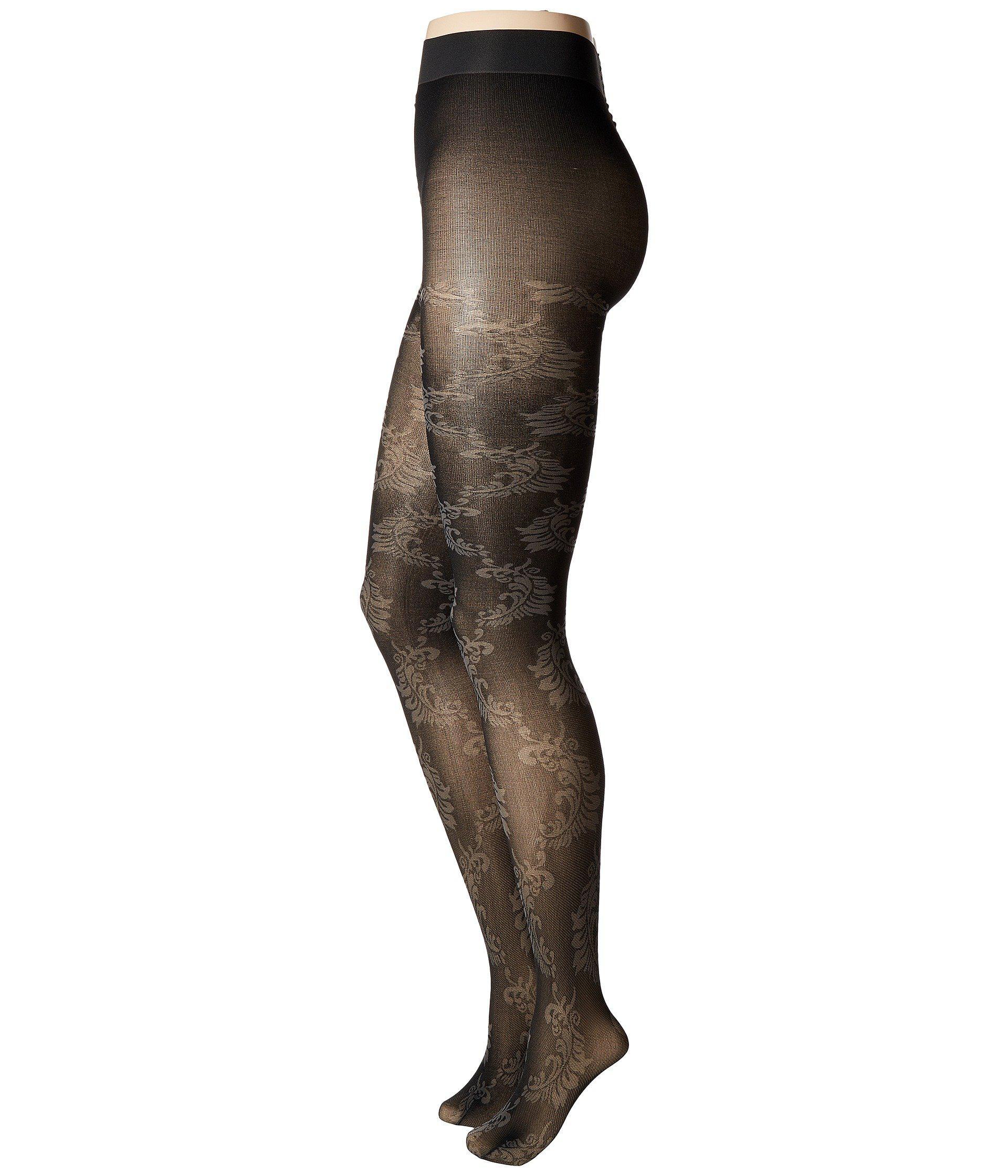 5abde9204de50 Lyst - Natori Feathers Opaque Tights (black) Hose in Black