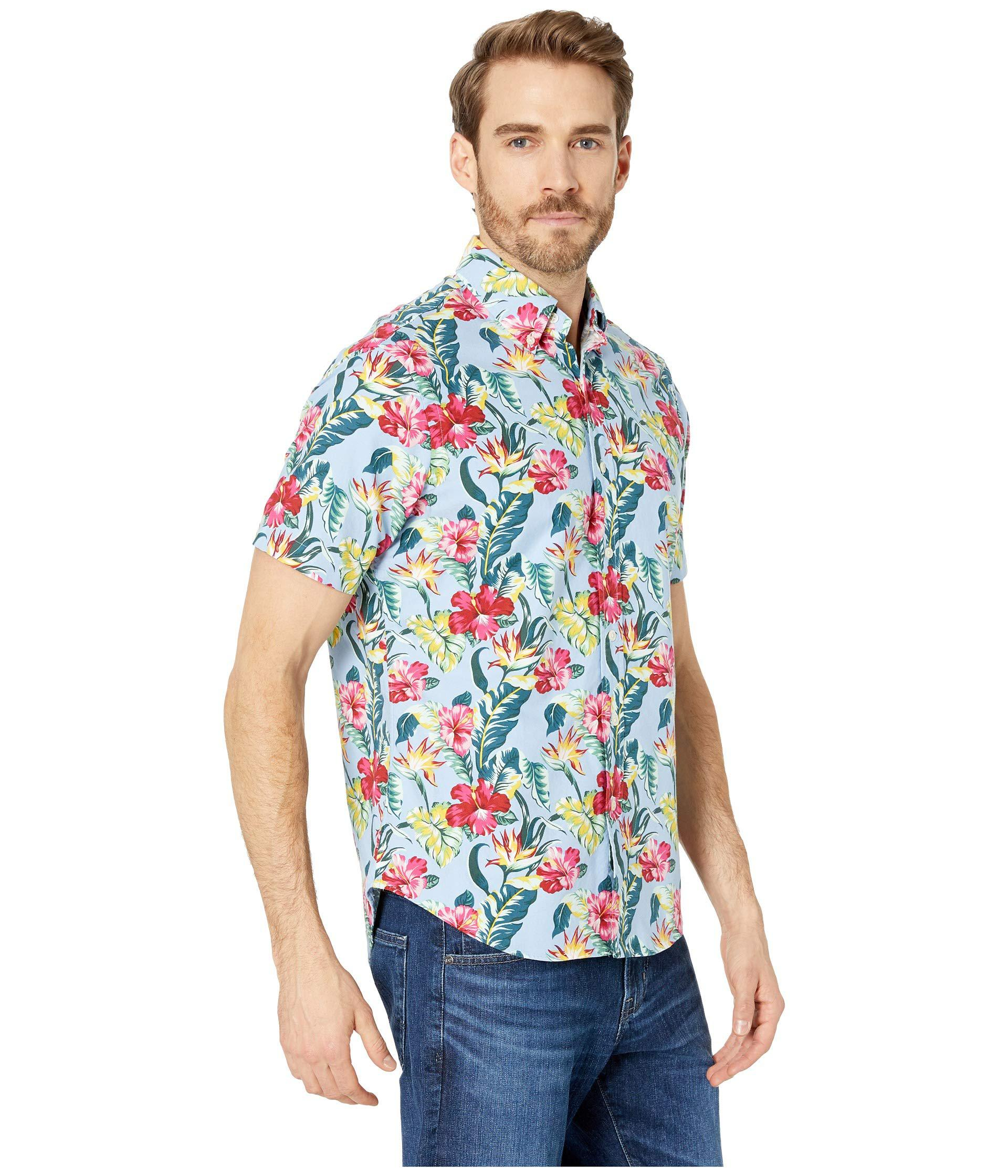 3745a430 Polo Ralph Lauren - Blue Short Sleeve Oxford Printed Classic Fit Sport Shirt  (paradise Floral. View fullscreen
