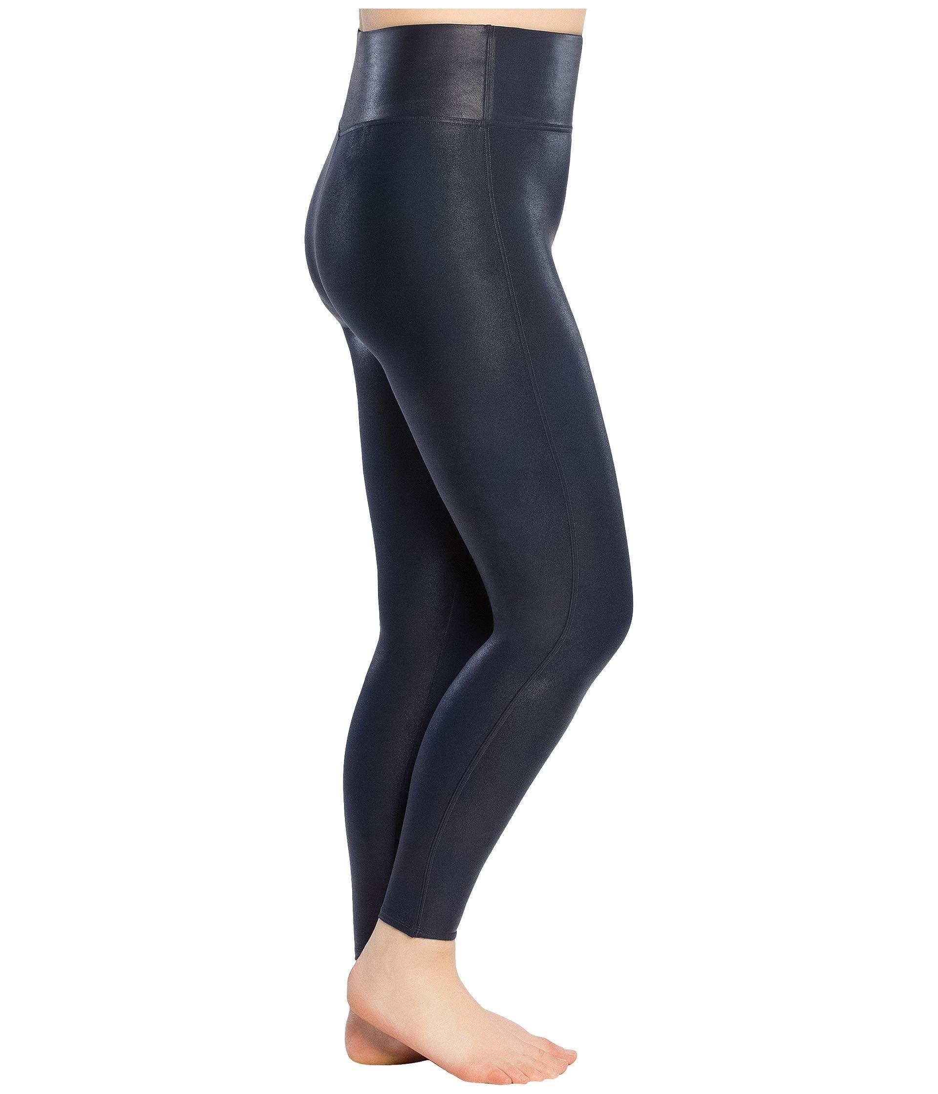 28358d7d7da Lyst - Spanx Plus Size Faux Leather Leggings (gunmetal) Women s Clothing in  Blue - Save 45%