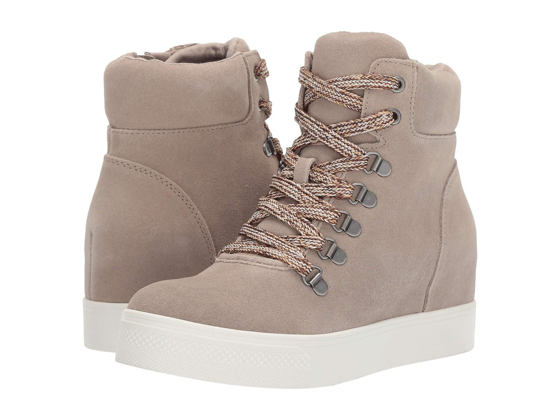 6bd0ed2daf3 Lyst - Steve Madden Catch Wedge Sneaker (taupe) Women s Lace Up ...