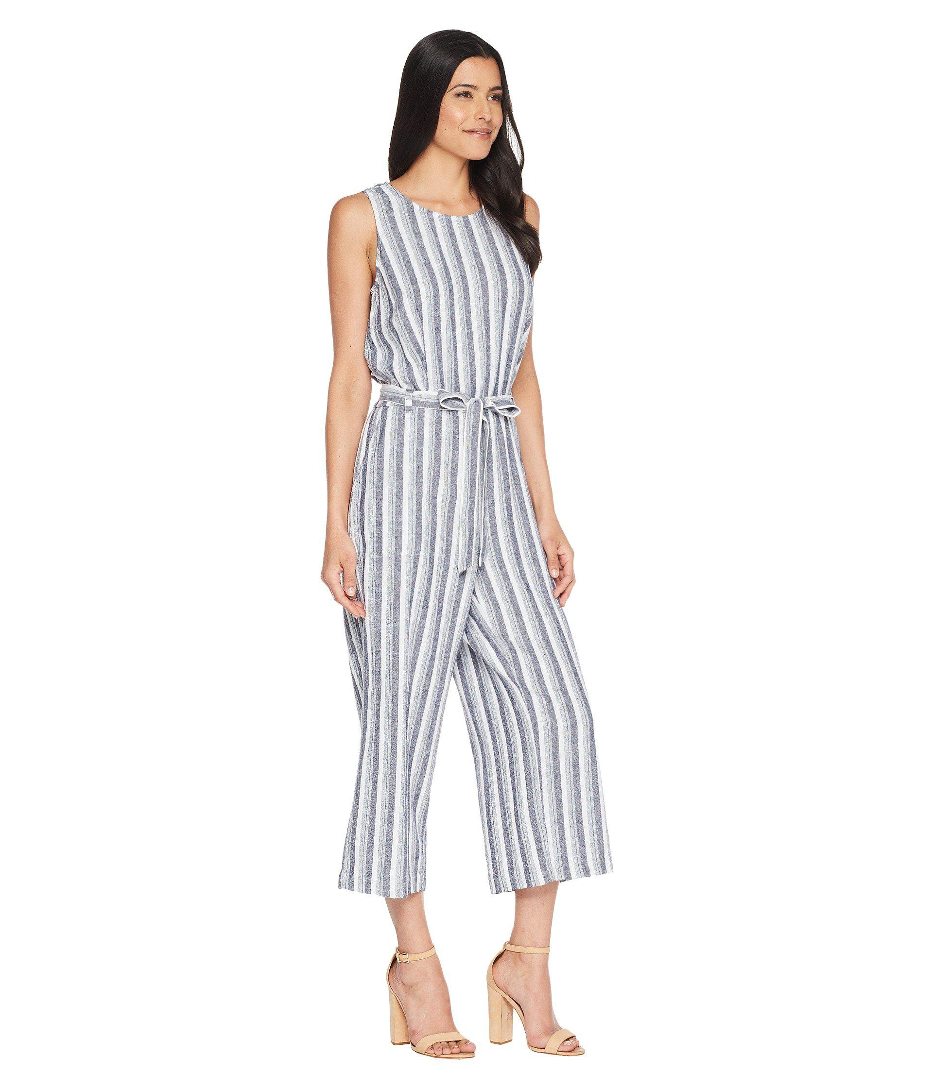 9374786114f3 Lyst - Two By Vince Camuto Sleeveless Shore Linen Stripe Belted ...