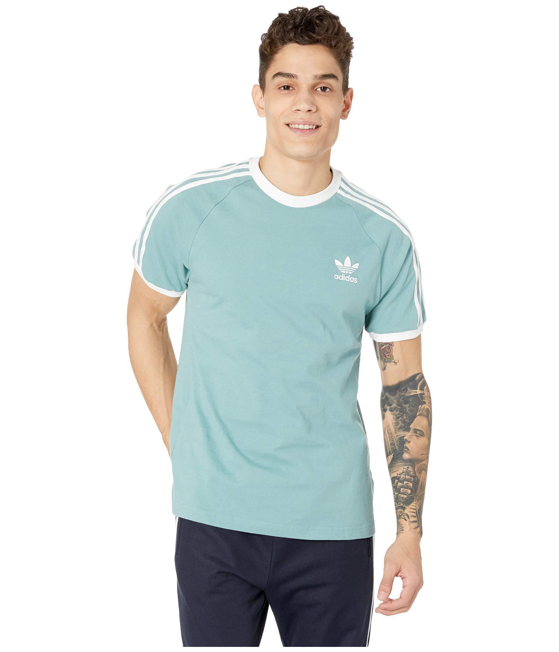 58c01a0181b81 adidas Originals 3-stripes Tee (legend Marine) Men's T Shirt in Blue ...