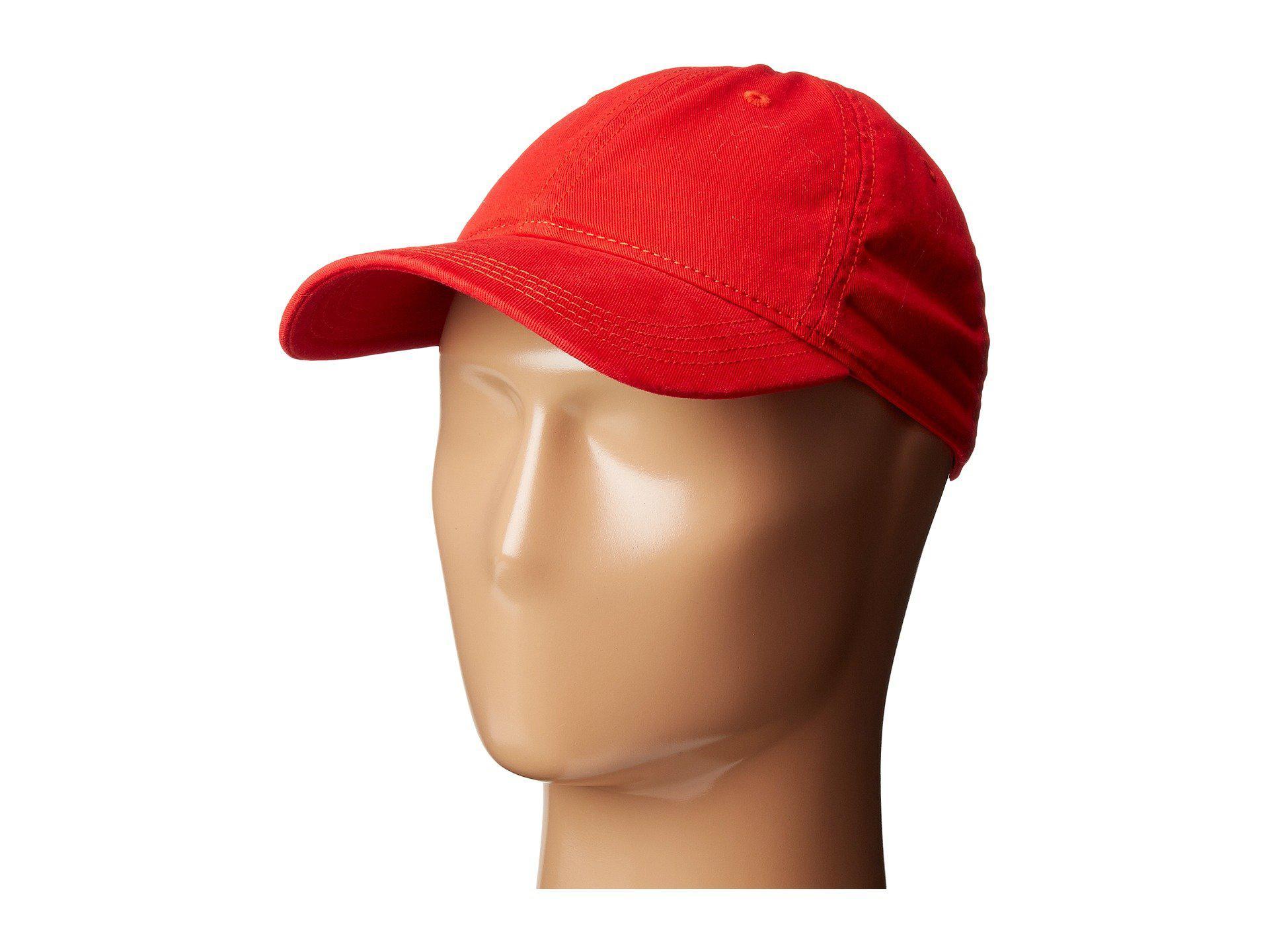 5d4f3932 Lyst - Lacoste Croc Gabardine Cotton Cap (navy Blue) Caps in Red for Men
