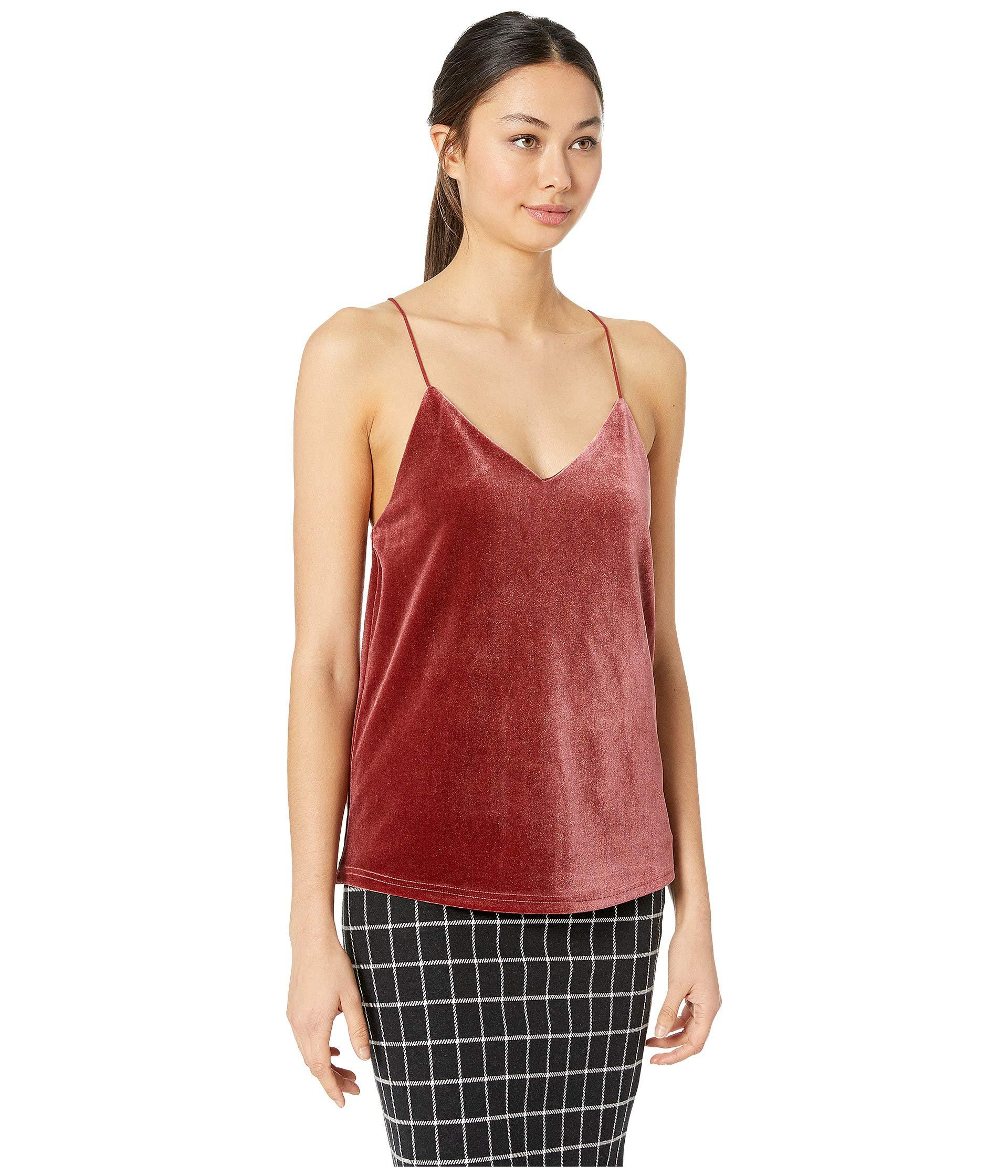 7bbe03e33d Lyst - Bishop + Young Velvet Cami (rose Gold) Women s Sleeveless in Red