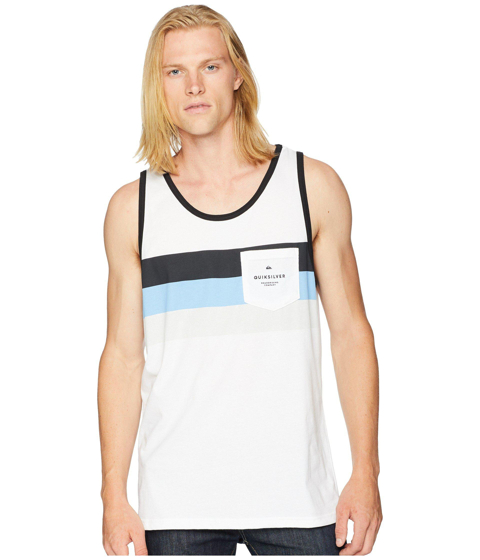 23f28f35af29d Lyst - Quiksilver Peaceful Progression Tank Top (white) Men s ...