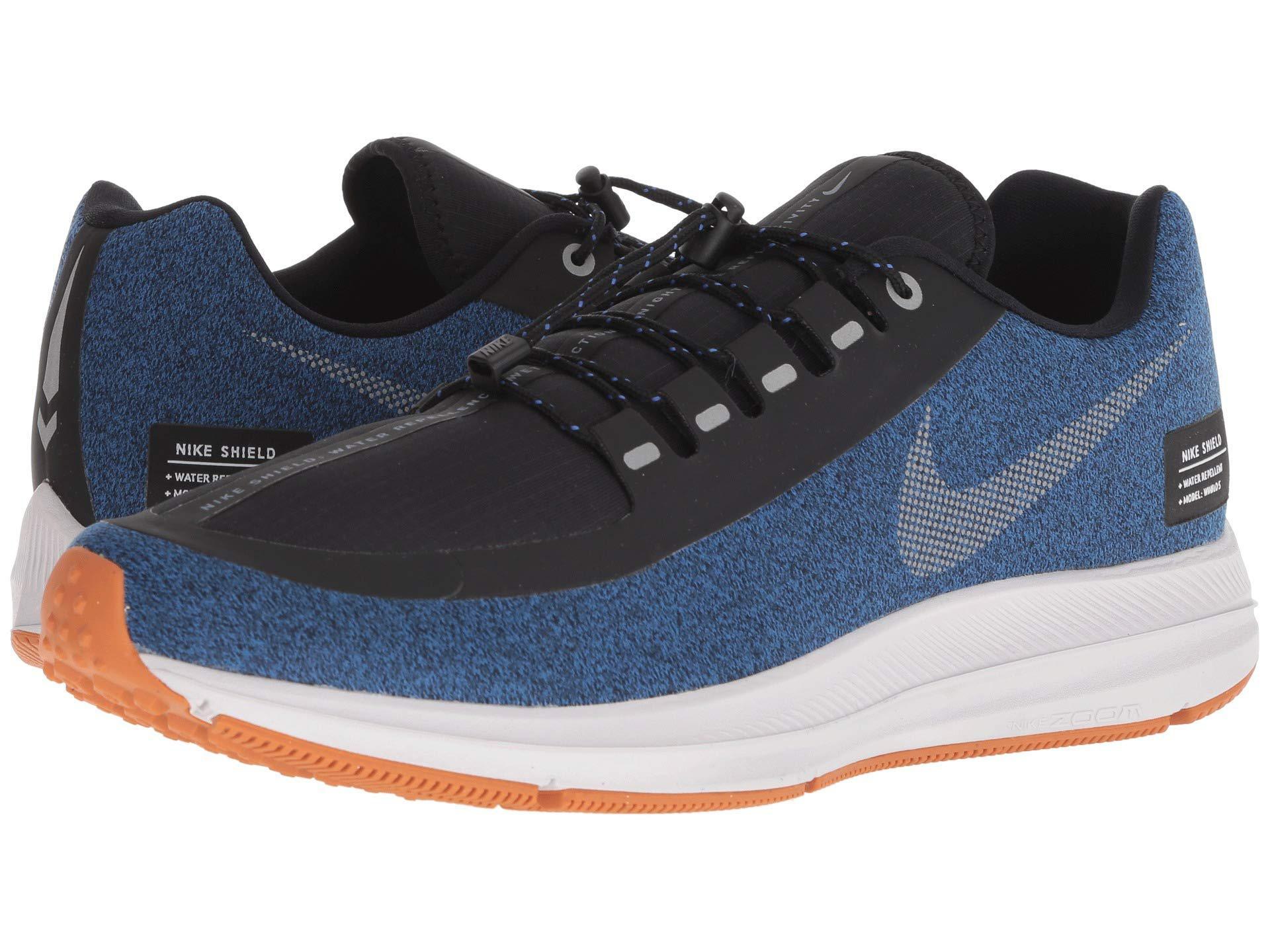 3e945b97af8cc Nike. Air Zoom Winflo 5 Run Shield (black metallic Silver hyper Royal) Men s  Running Shoes