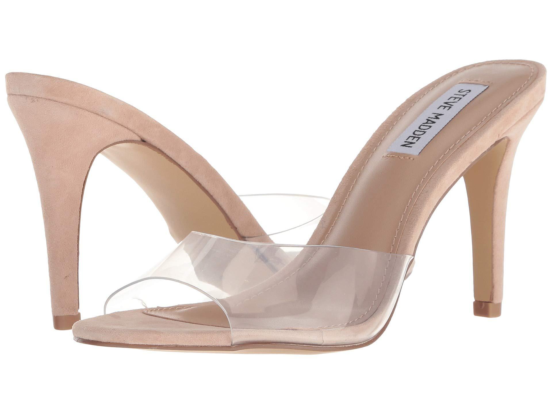 bc93a3b0e3f Steve Madden - Natural Erin Heeled Mule (pink Neon) High Heels - Lyst. View  fullscreen