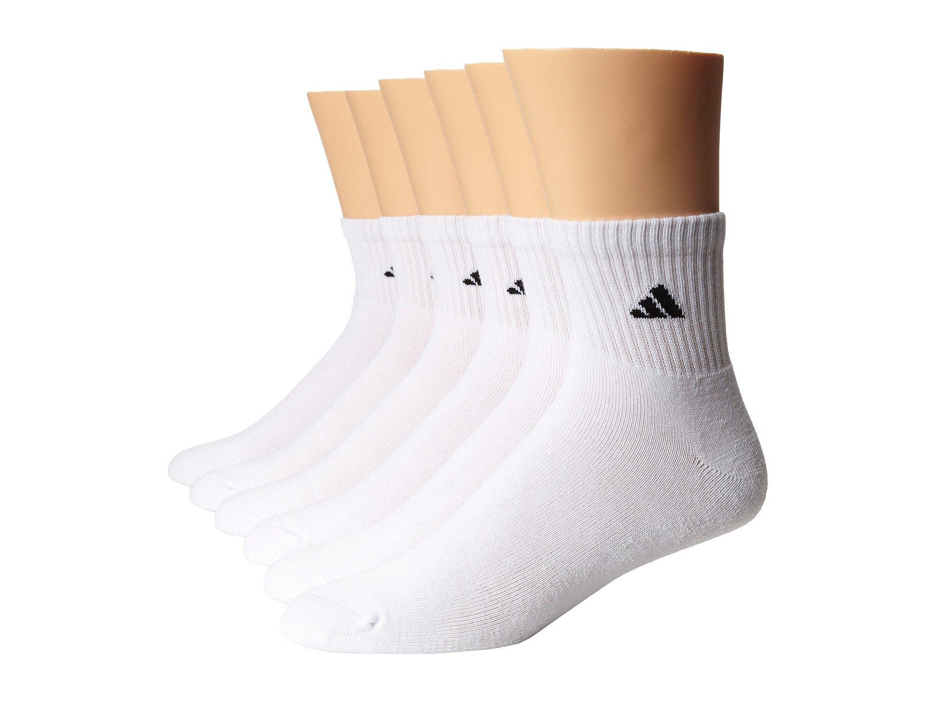 Adidas 6 Pack Quarter Socks