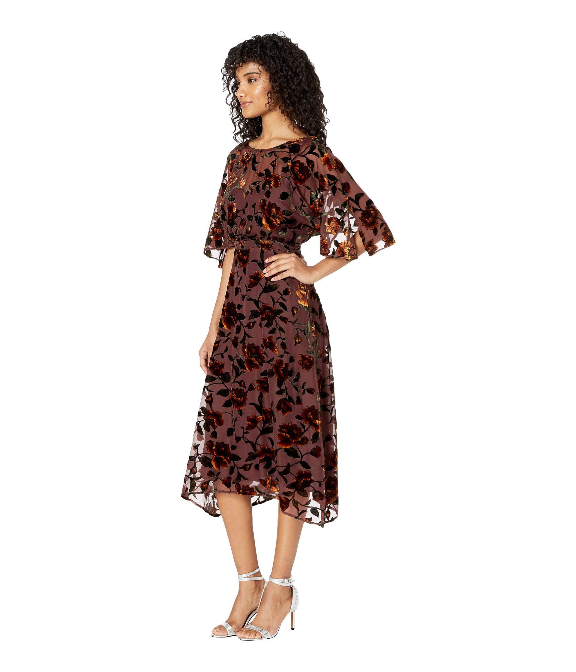 11cbe74fe7e0 Astr Sadie Dress (golden Rust Floral) Women's Dress in Brown - Lyst