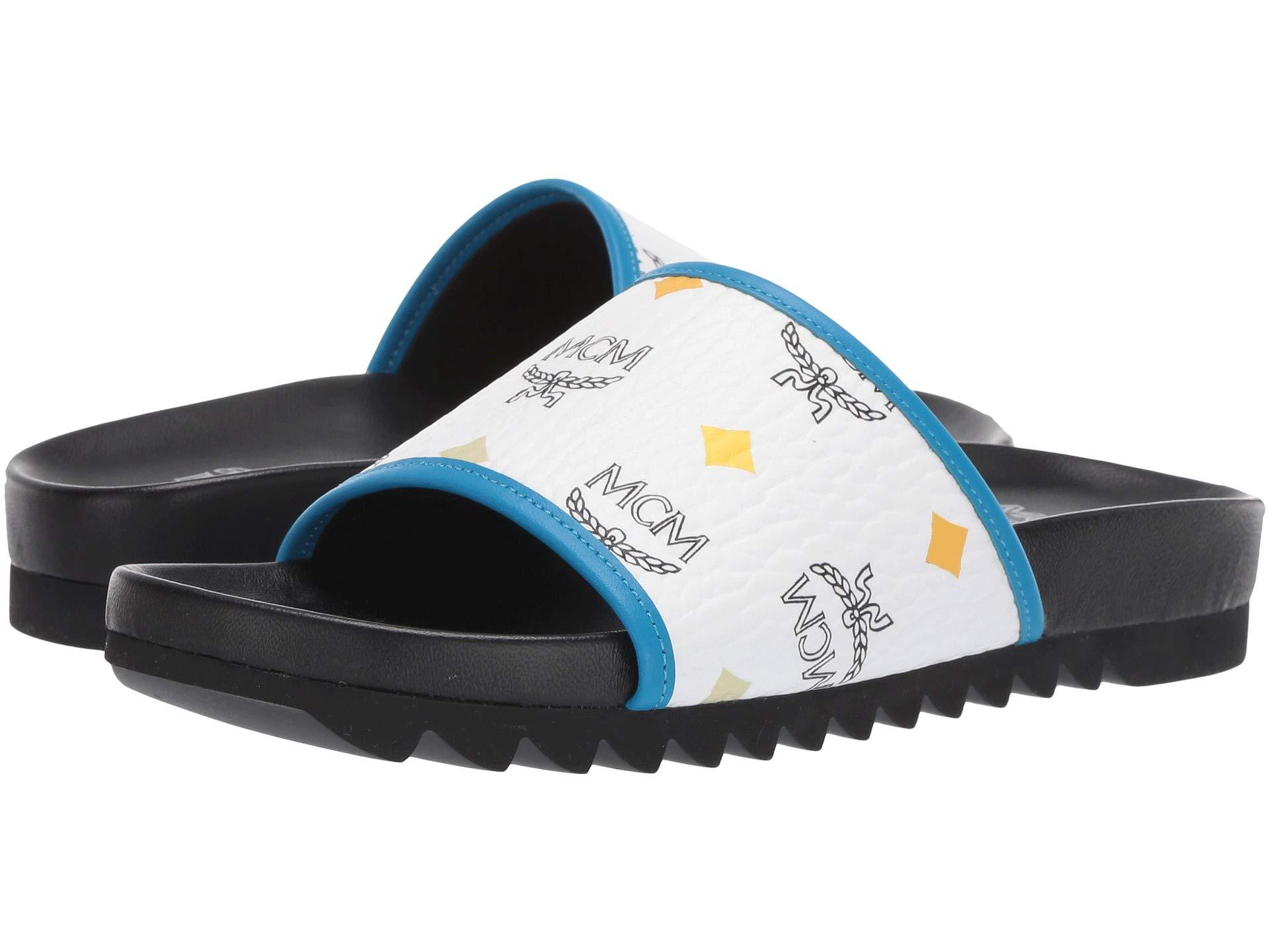 939055d37e8 Lyst - MCM Spektrum Visetos Slide (spectrum Diamond White) Women s Shoes