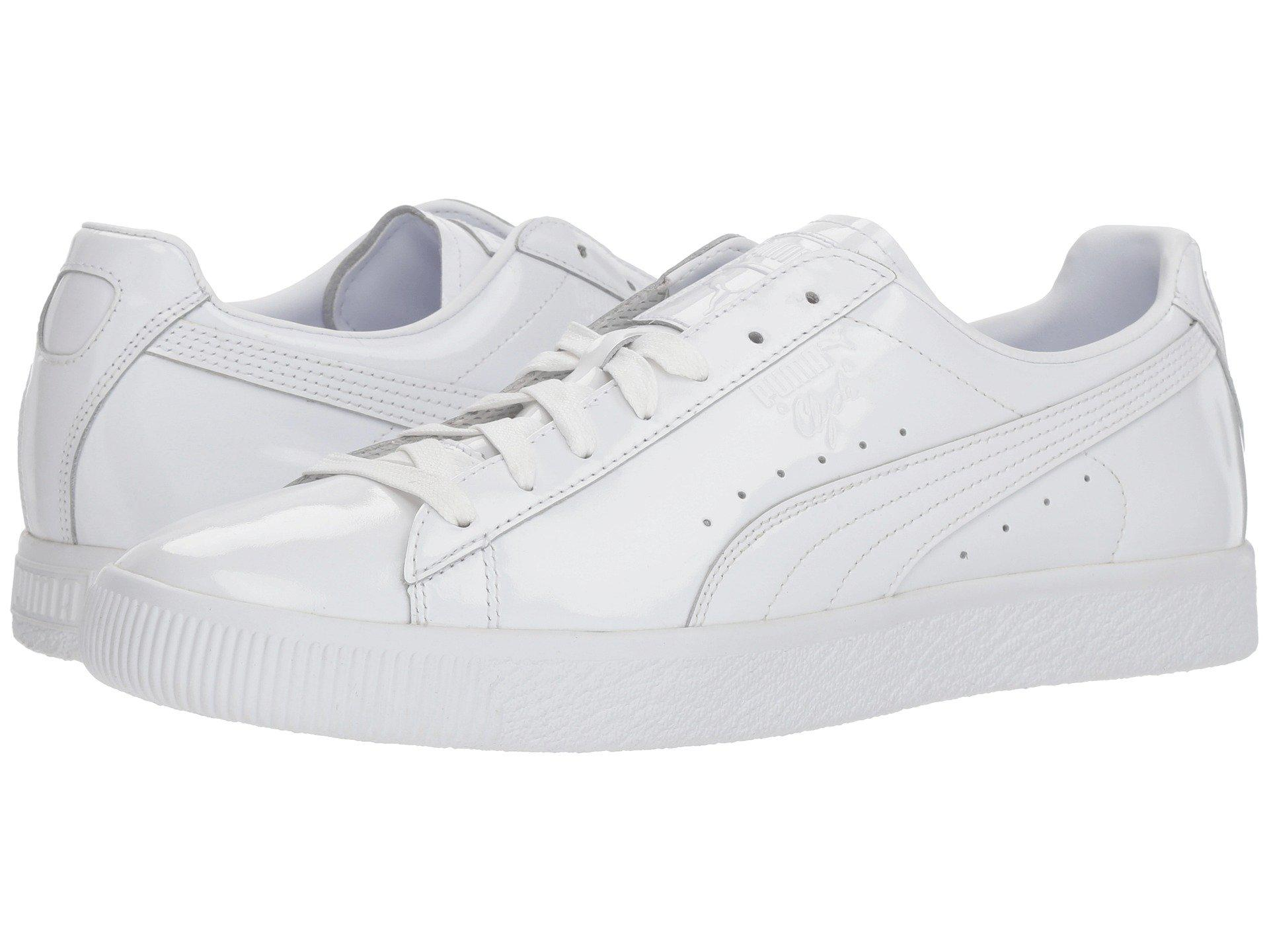 06e33a34661015 PUMA Clyde Dressed Part Three ( White) Men's Lace Up Casual Shoes in ...