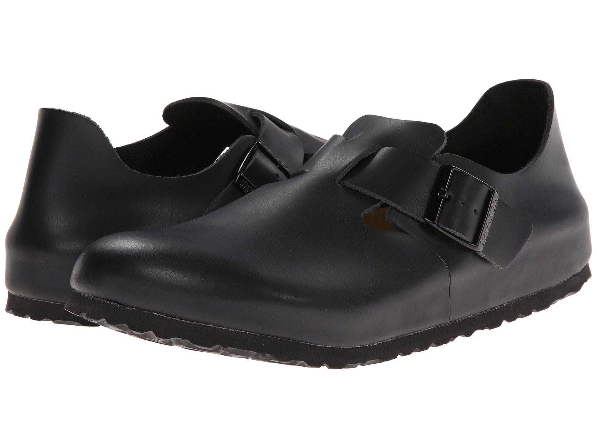 d04887620e34 Lyst - Birkenstock London Soft Footbed (hunter Black Leather) Shoes ...
