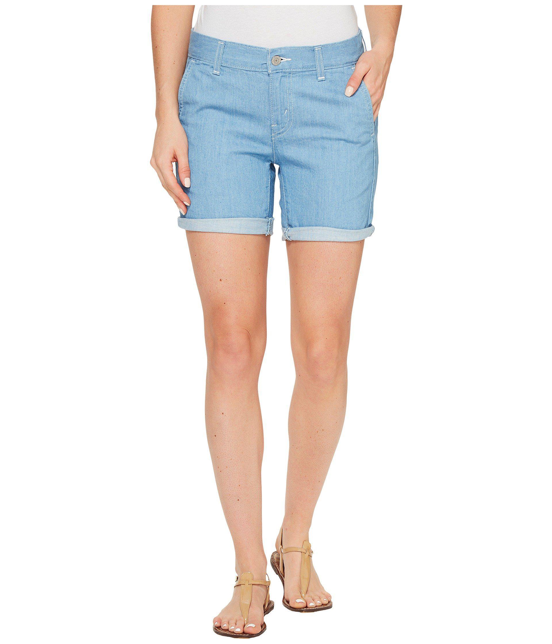 Levi's. Women's Blue Boyfriend Chino Shorts