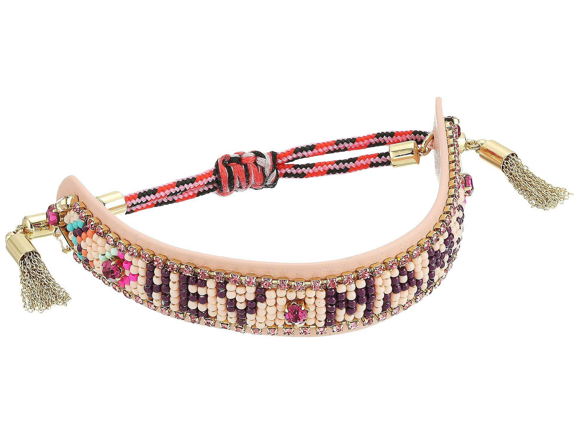 Rebecca Minkoff Girl Power Seed Bead Friendship Bracelet E9Cjpf