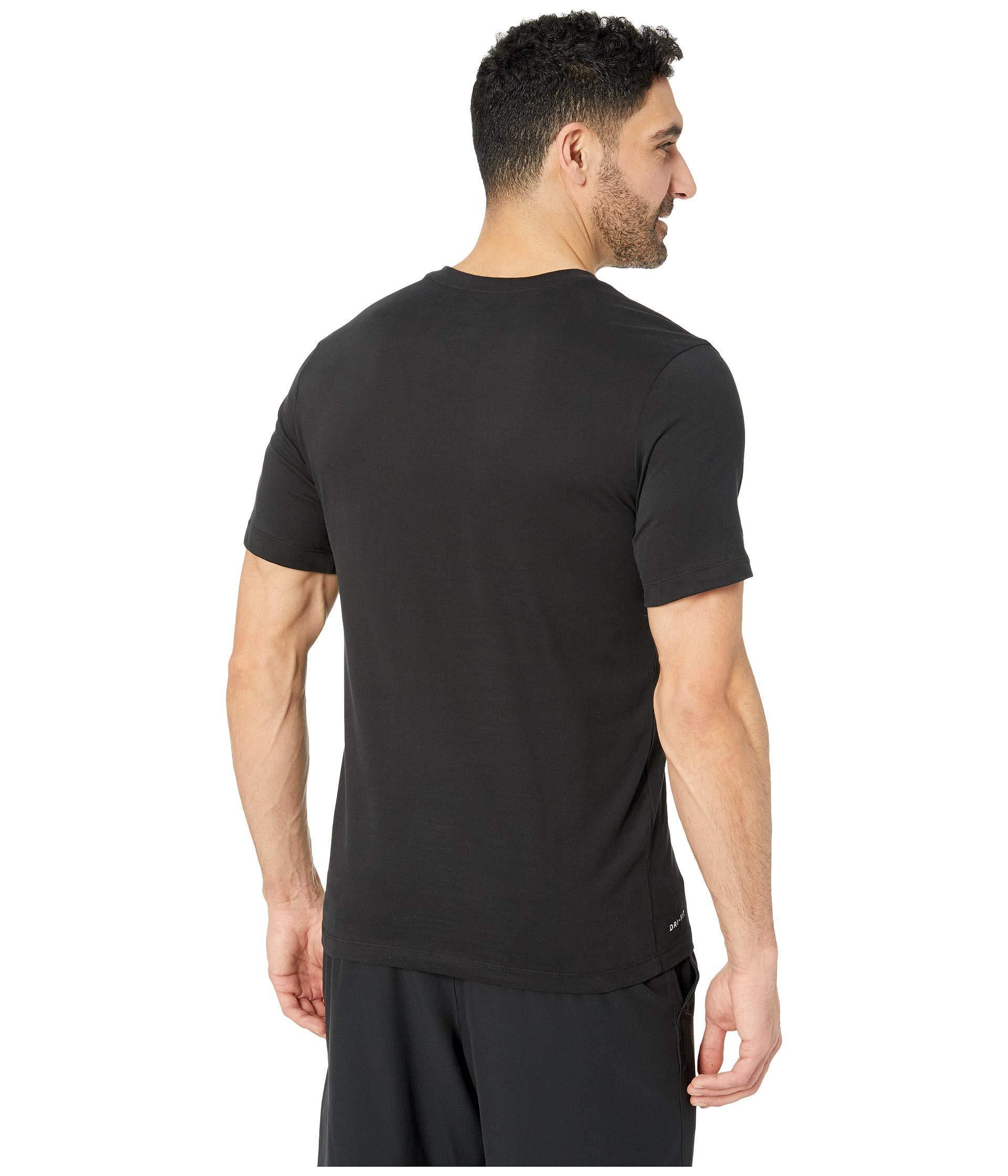 592df9d3 Lyst - Nike Dry Tee Dri-fit Cotton V Solid (indigo Fog/light Armory ...