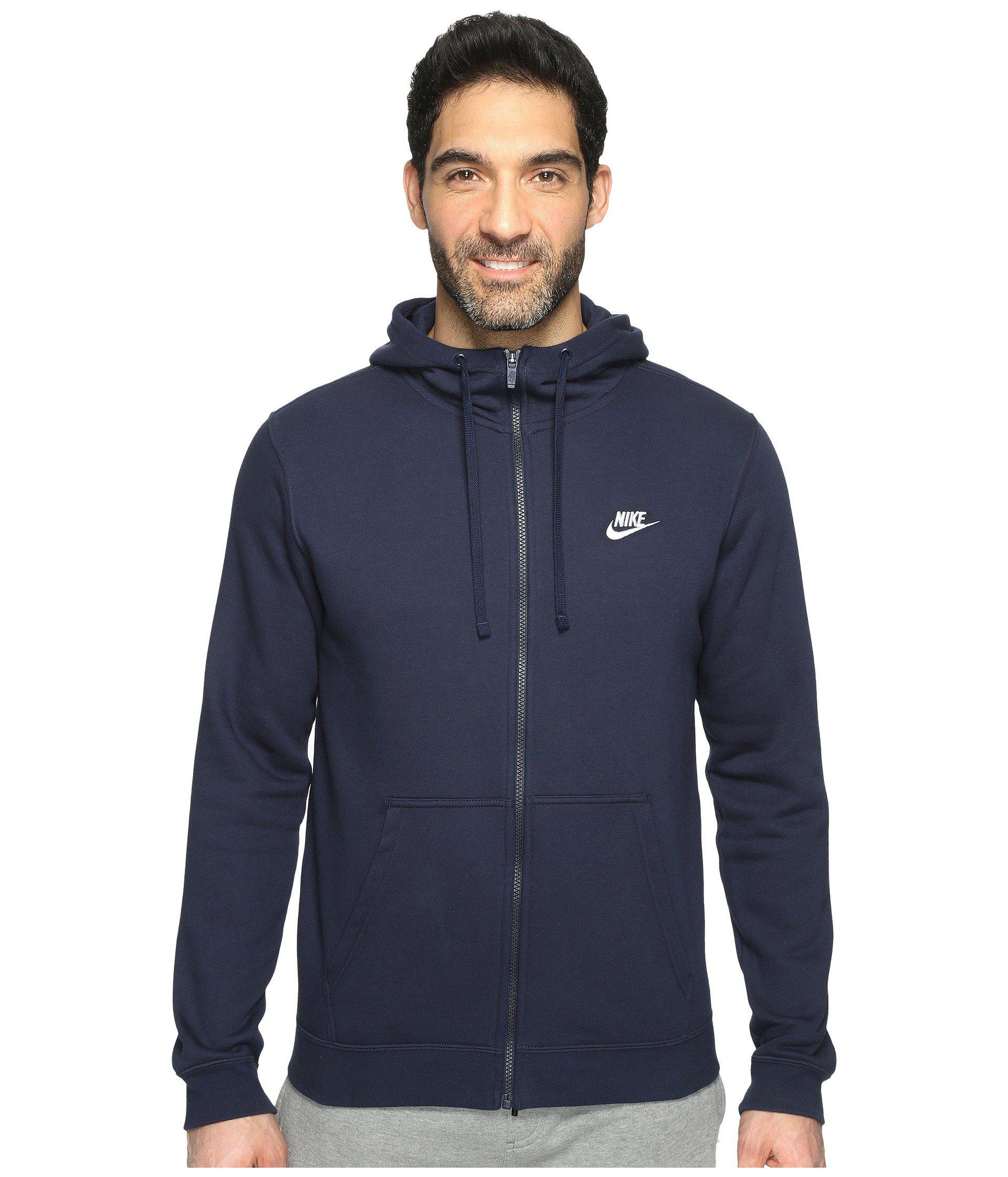 f7d5540f7c Lyst - Nike Club Fleece Full-zip Hoodie (black black white) Men s ...
