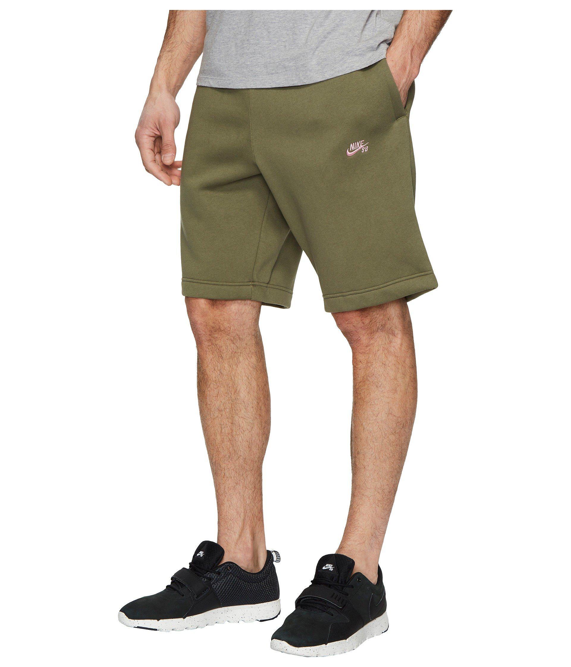 020291c5ca4b Lyst - Nike Sb Icon Fleece Short in Green for Men