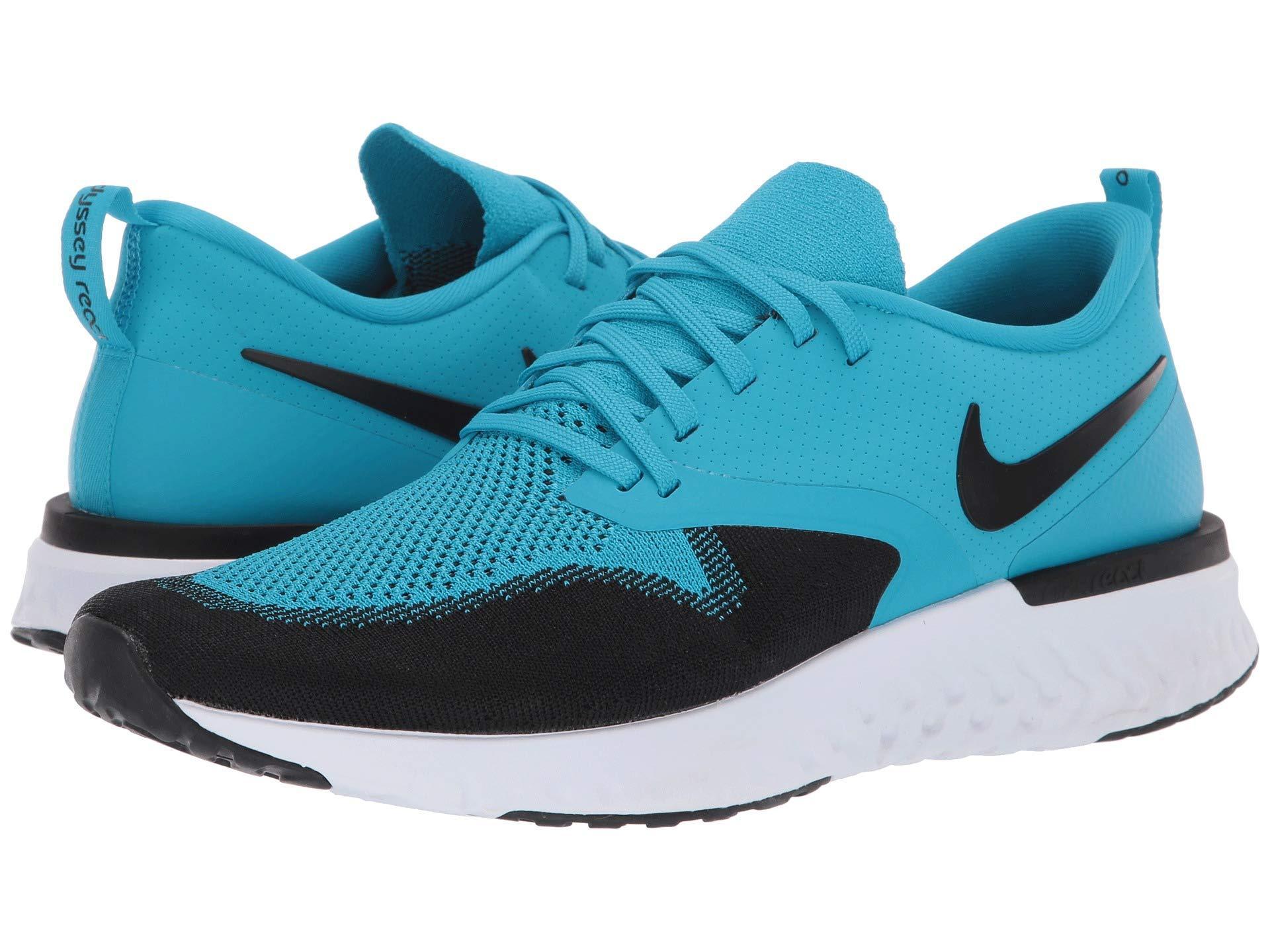 timeless design a159e b0d1f Nike. Odyssey React Flyknit 2 (indigo Force white blue Void red Orbit) Men s  Running Shoes