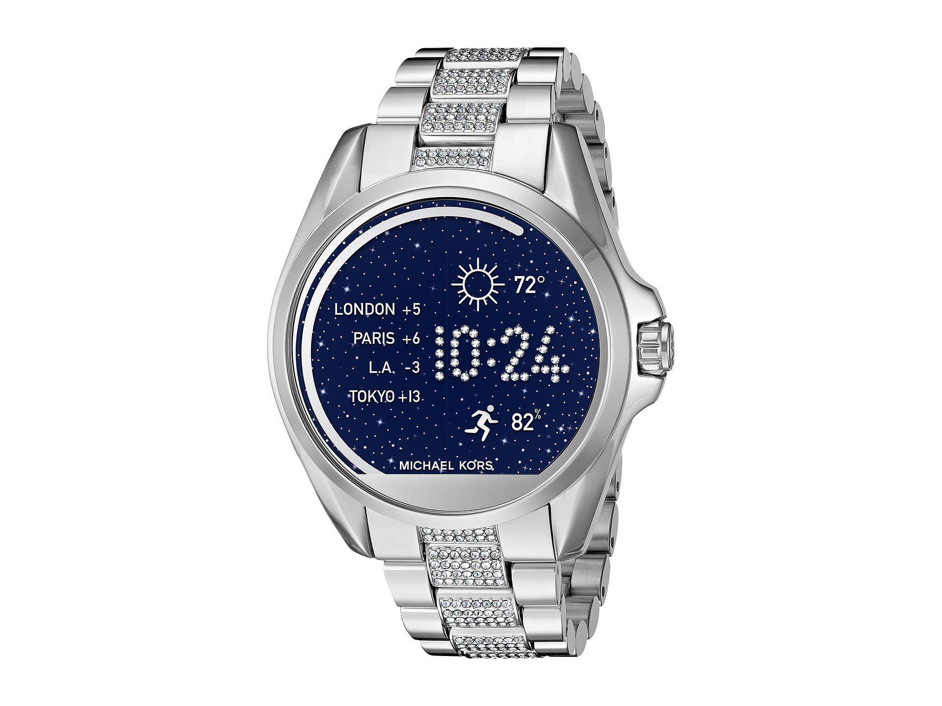 c2de88193736 Lyst - Michael Kors Bradshaw Pavé Display Smartwatch - Mkt5000 in ...
