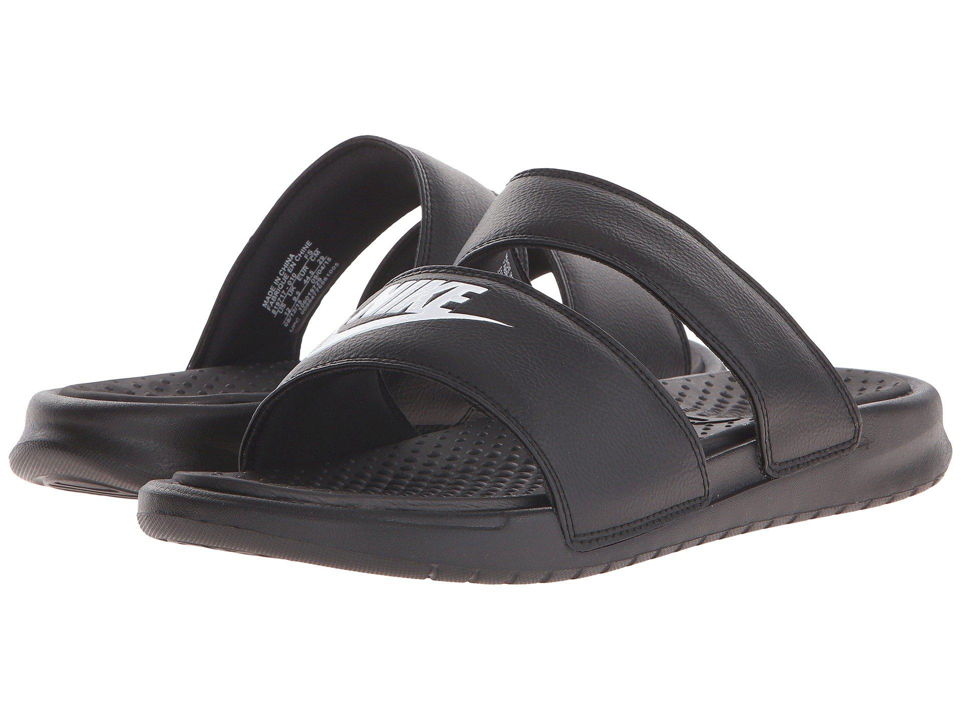 66044b4a2ba Lyst - Nike Benassi Duo Ultra Slide (black white) Women s Slide ...