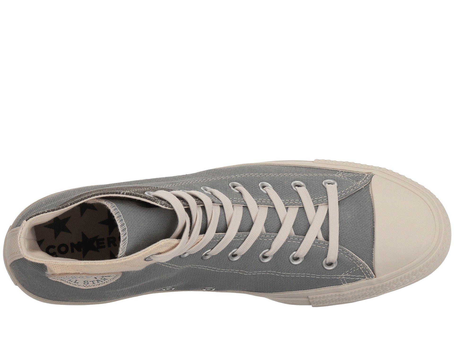 5c9d87654af Lyst - Converse Chuck Taylor® All Star® Hi - Jute Americana in Gray ...