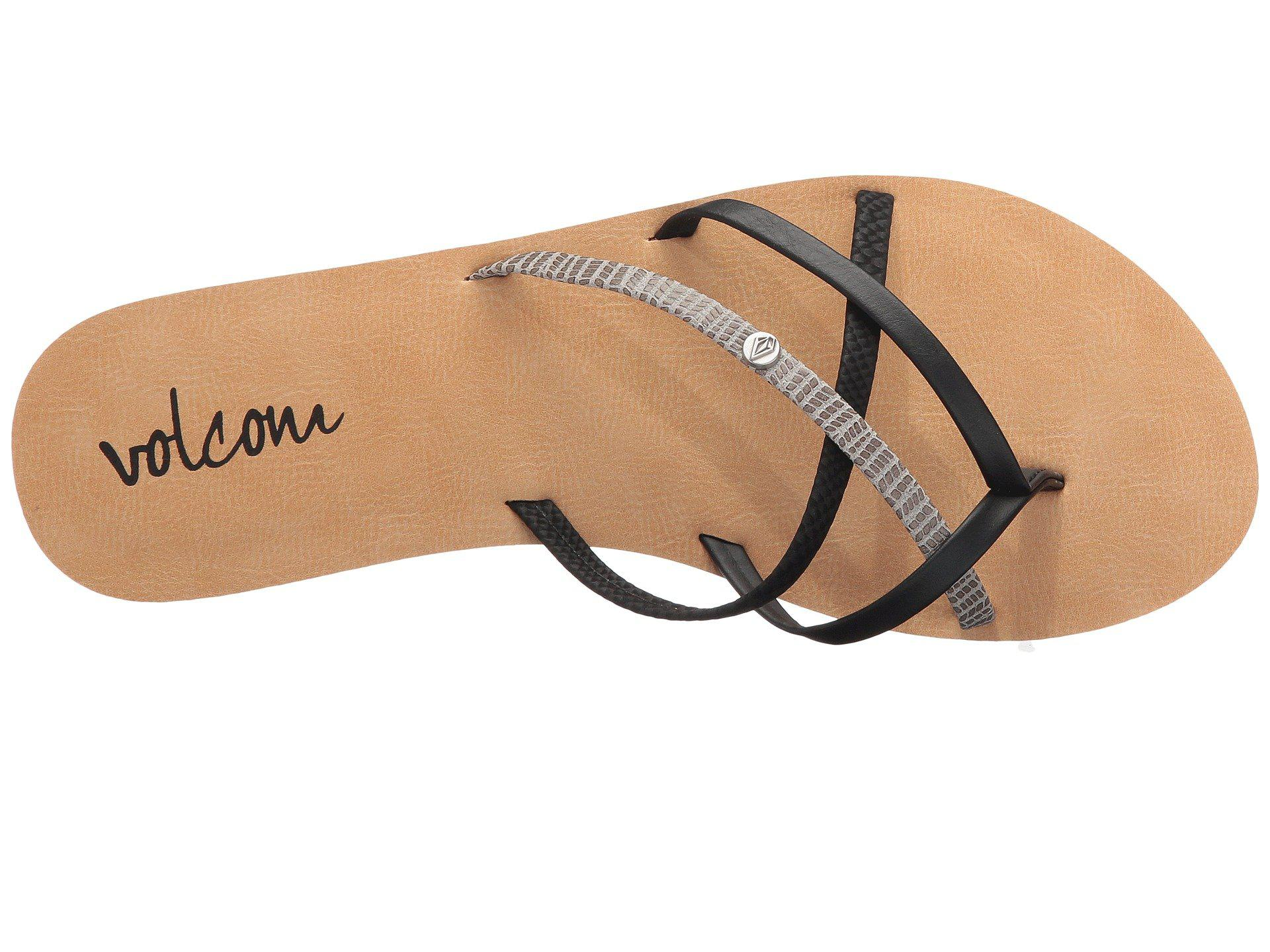 4b2e82479396 Volcom - Black New School 2 (brown) Women s Sandals - Lyst. View fullscreen