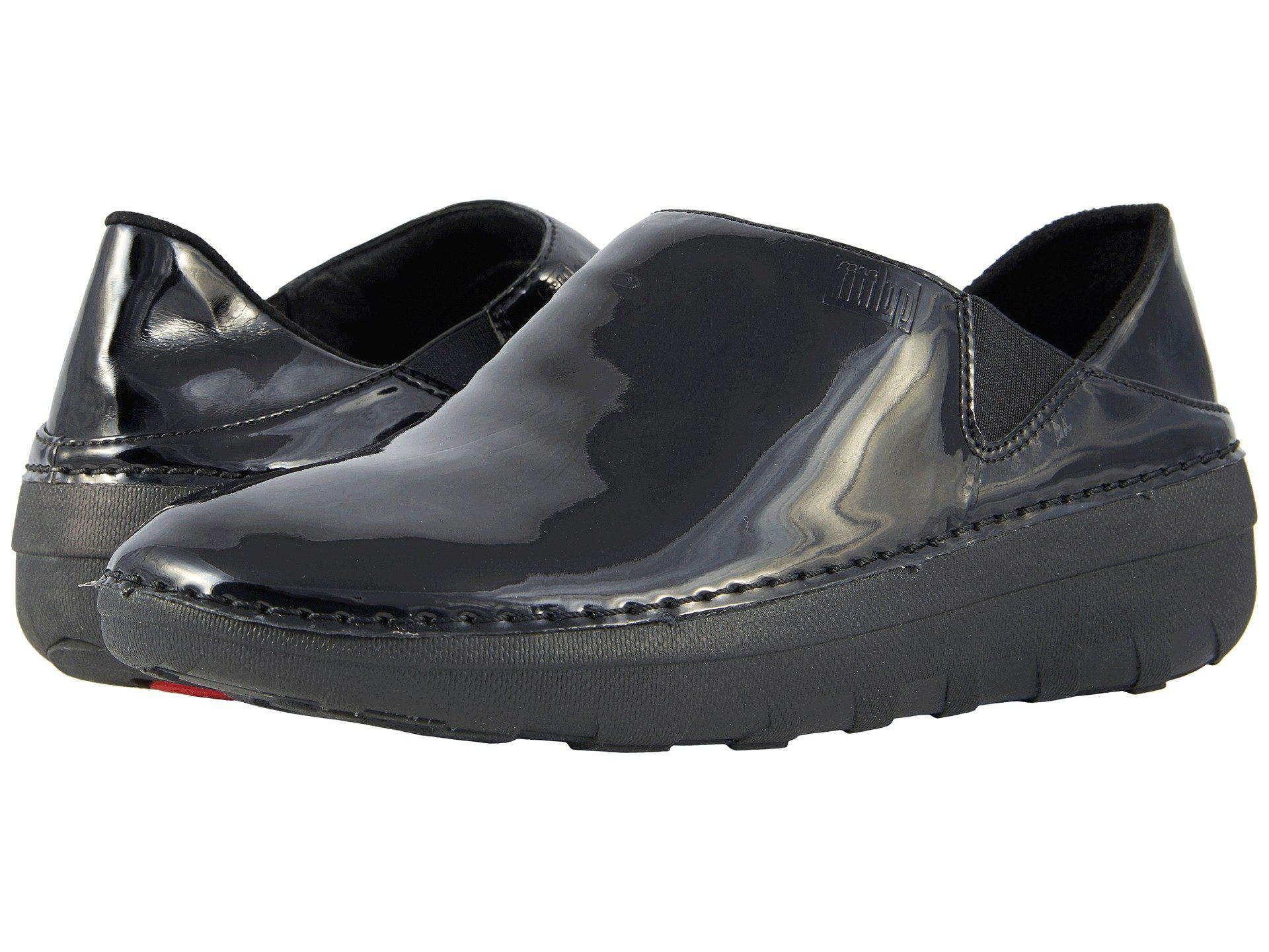 1139b0d03 Lyst - Fitflop Superloafer Patent (black) Women s Slip On Shoes in Black