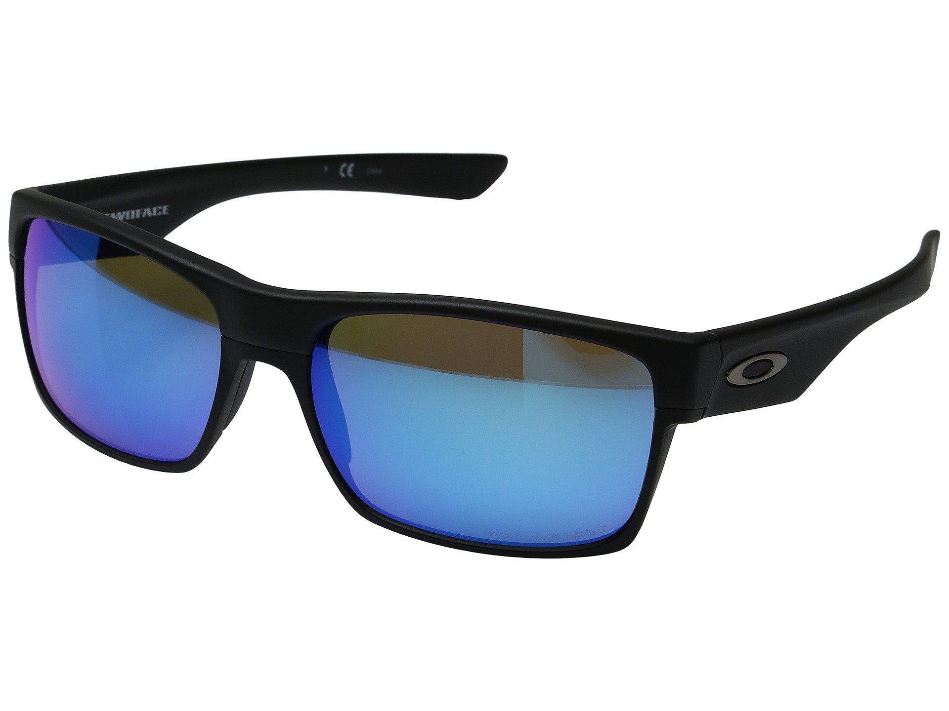 622b1e3850f Oakley. Men s Two Face (matte Black sapphire Iridium Polarized) Fashion  Sunglasses