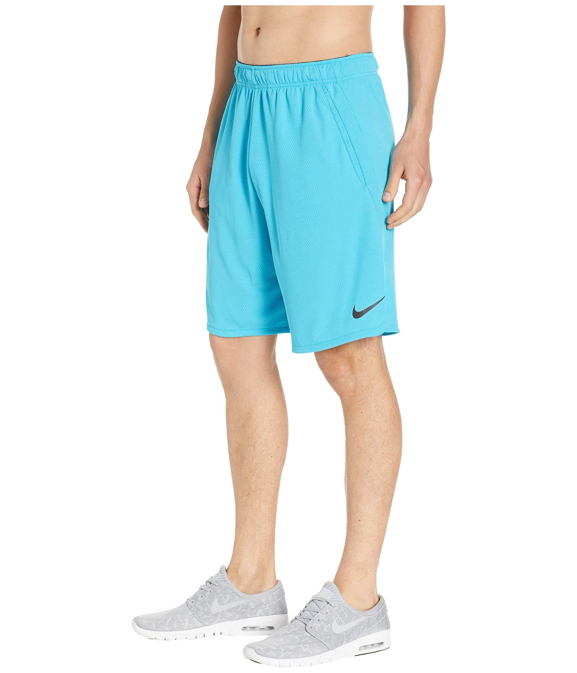 91973f619e Lyst - Nike Dri-fit 9 Training Short (black/dark Grey) Men's Shorts in Blue  for Men