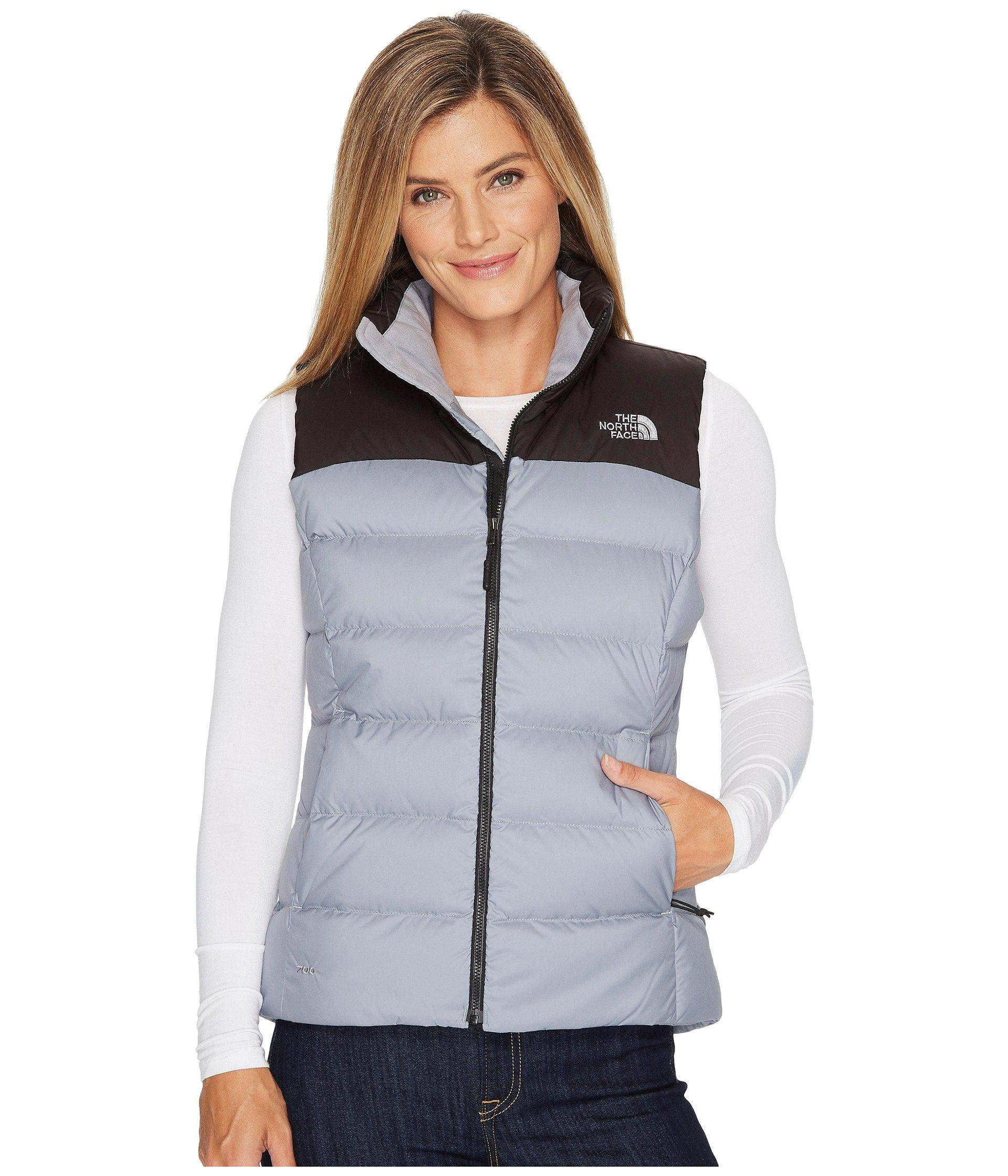 a13b2387ab The North Face - Gray Nuptse Vest (tnf White tnf Black) Women s Jacket. View  fullscreen