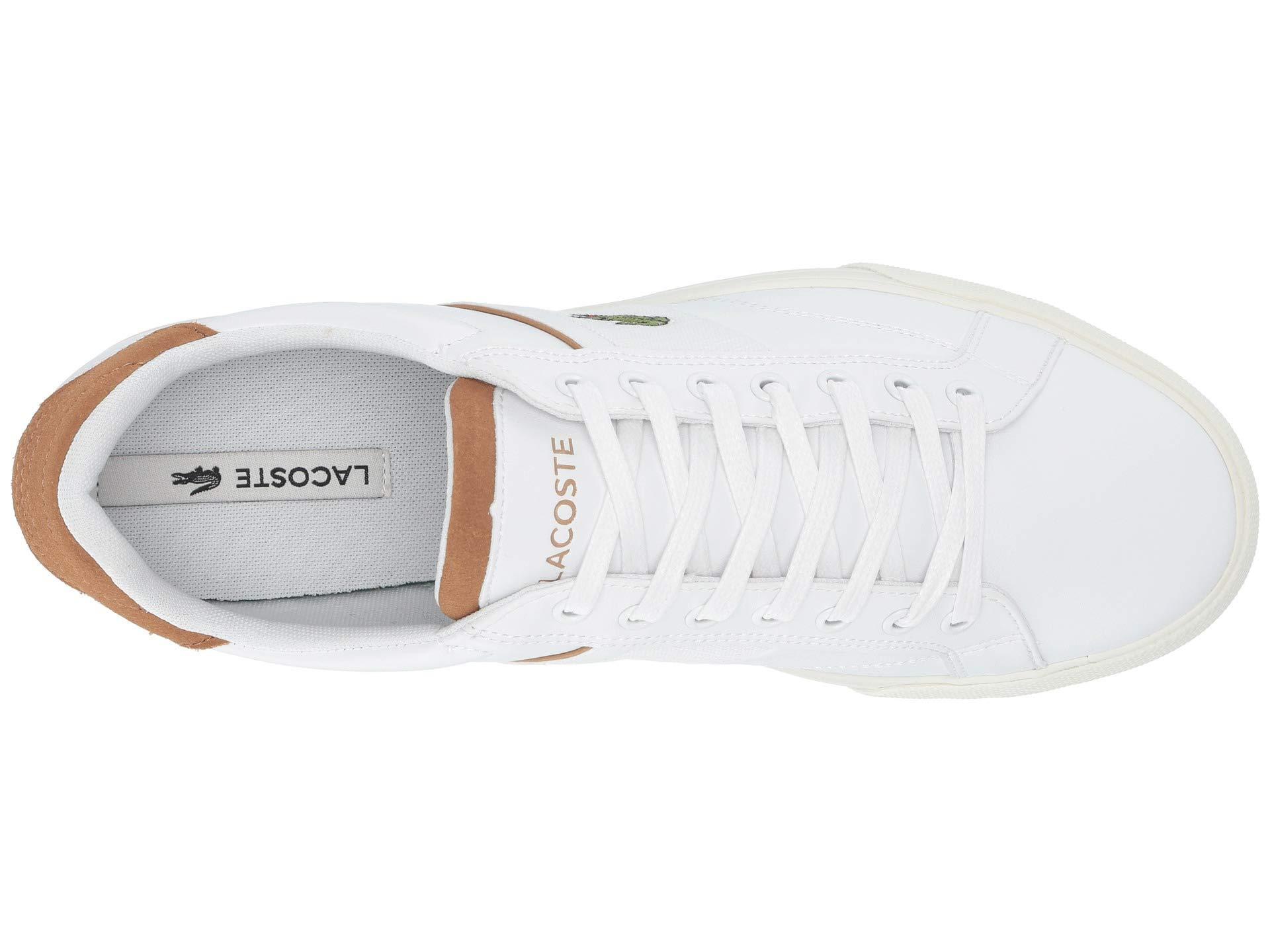 2fd4e289d3df5b Lacoste - White Fairlead 119 1 Cma (black light Brown) Men s Shoes for.  View fullscreen