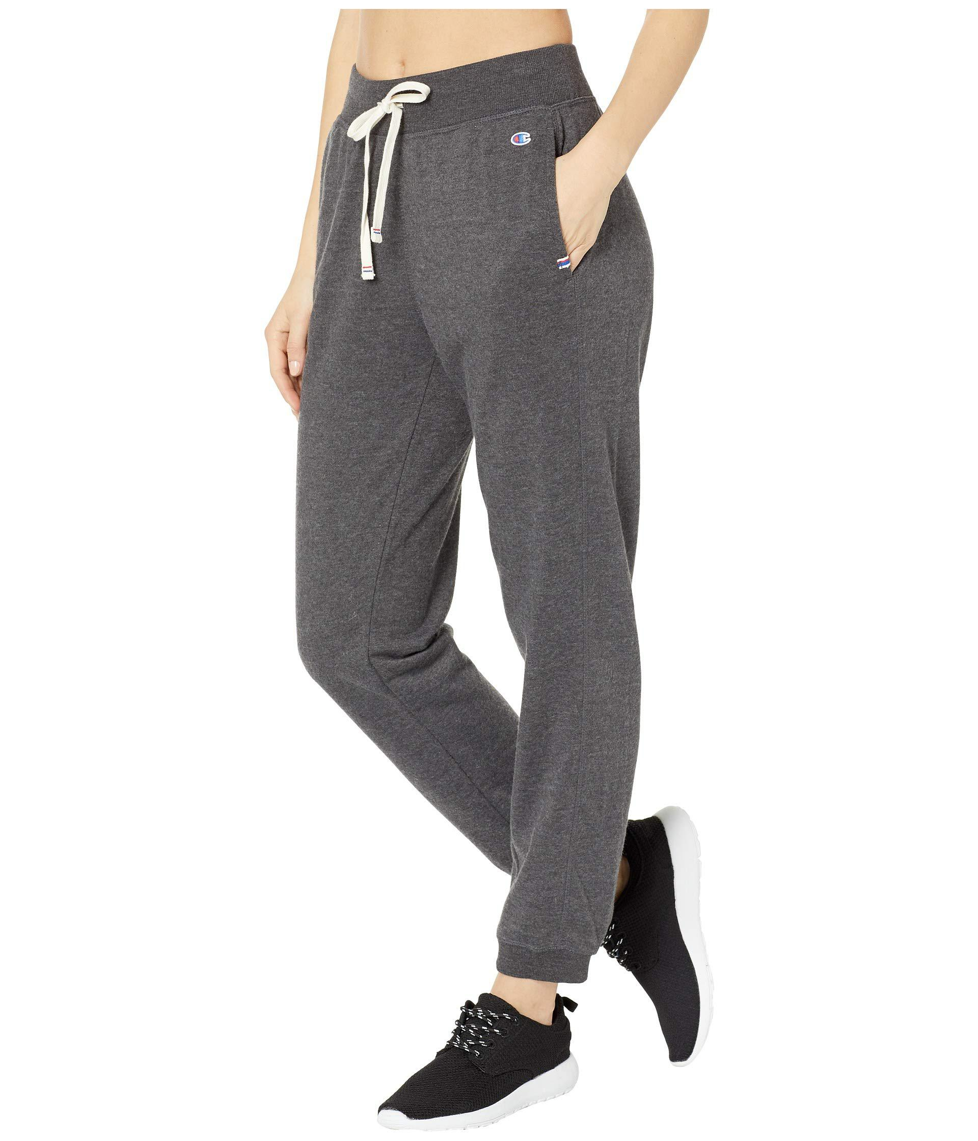 94ca90e7216742 Champion Heritage French Terry Joggers (black) Women's Casual Pants in Gray  - Lyst