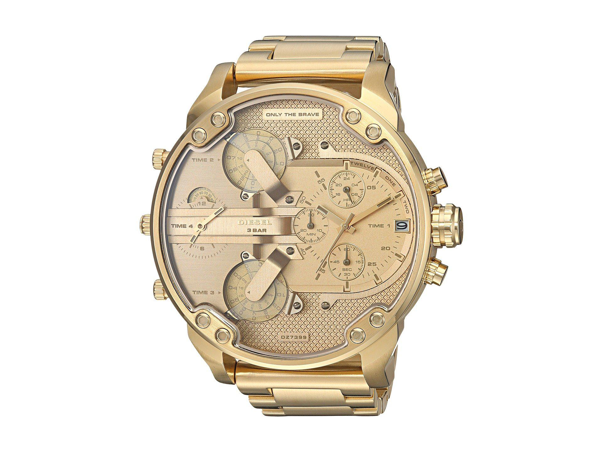 20. Diesel Mega Chief Gold Watch 20. Diesel Mega Chief Gold Watch new foto