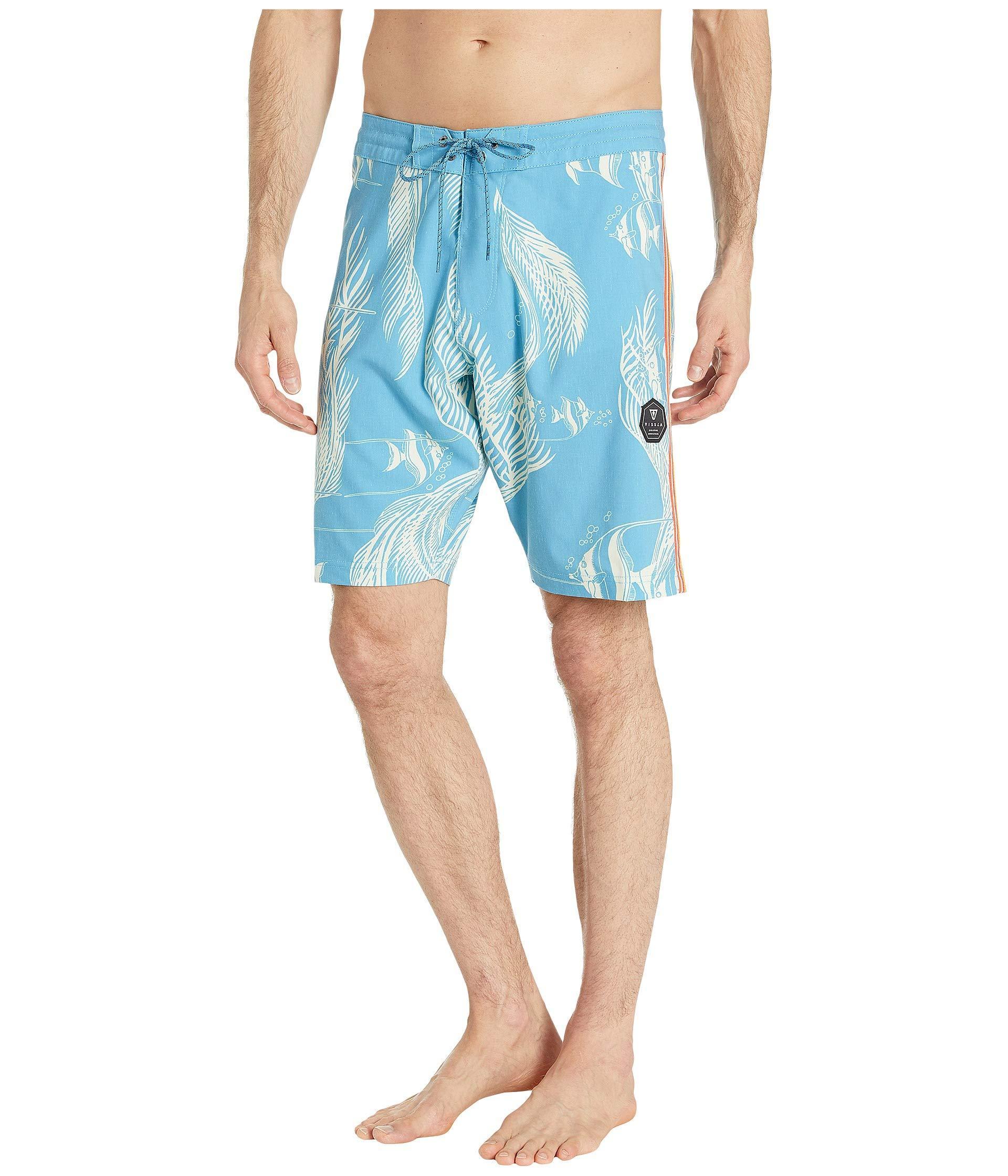 60e0c85006 Vissla 20 Kihi Kihi Boardshorts (blue Wash) Men's Swimwear in Blue ...