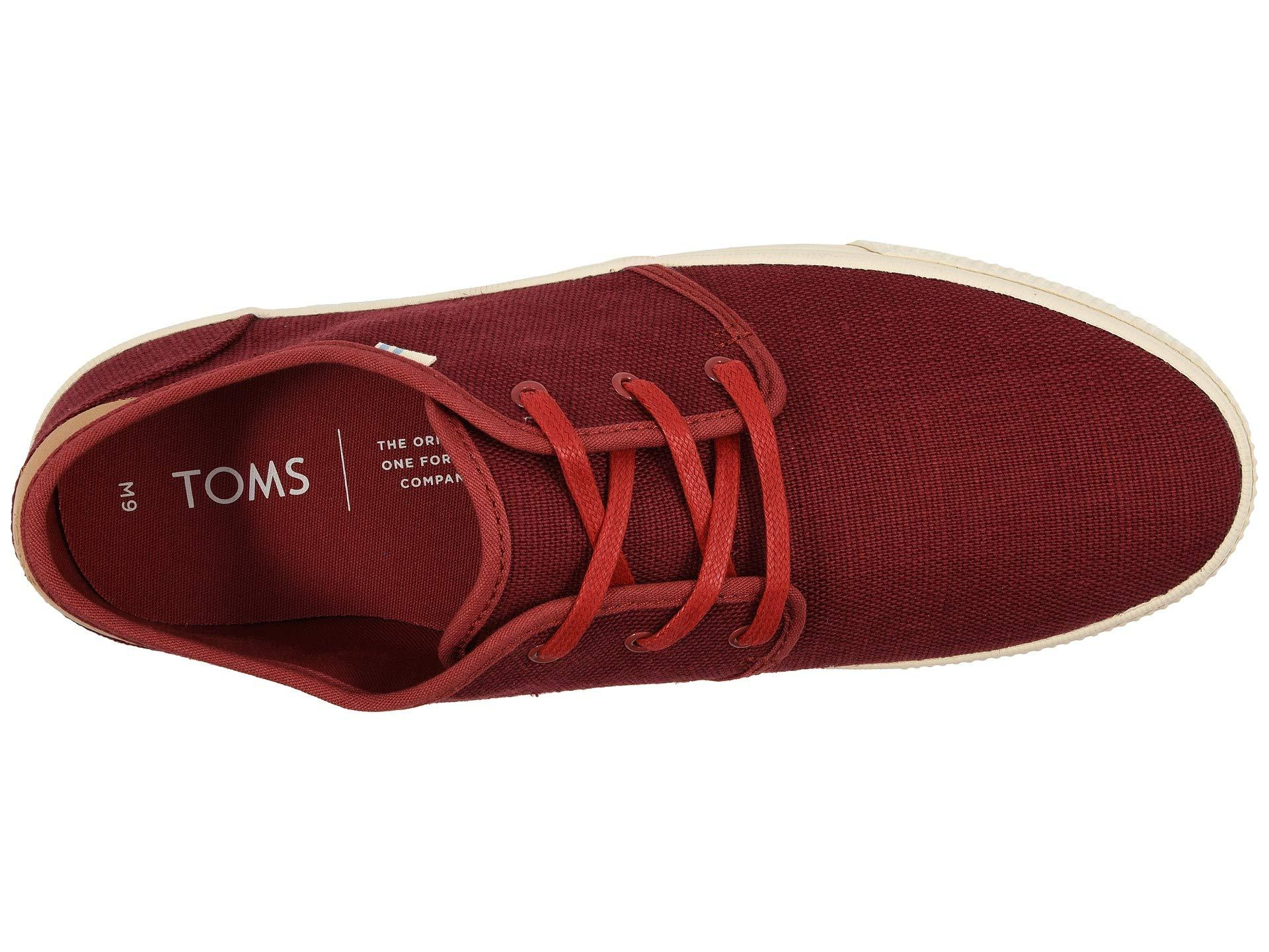 e735505465b Lyst - TOMS Carlo (navy Heritage Canvas) Men s Lace Up Casual Shoes ...