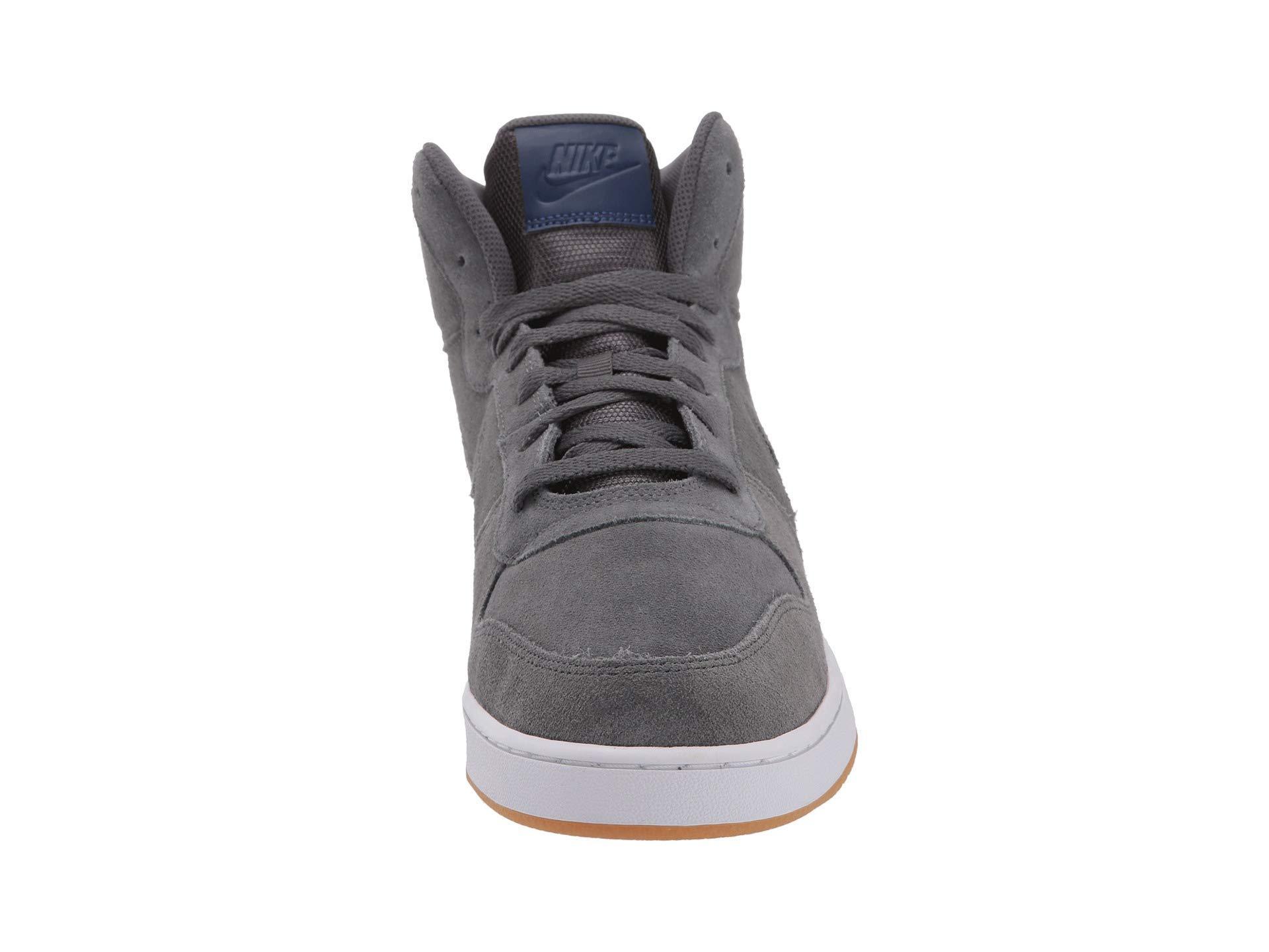 6a51d3f763 Nike Ebernon Mid Premium (dark Grey/blue Void/white) Men's Shoes in ...
