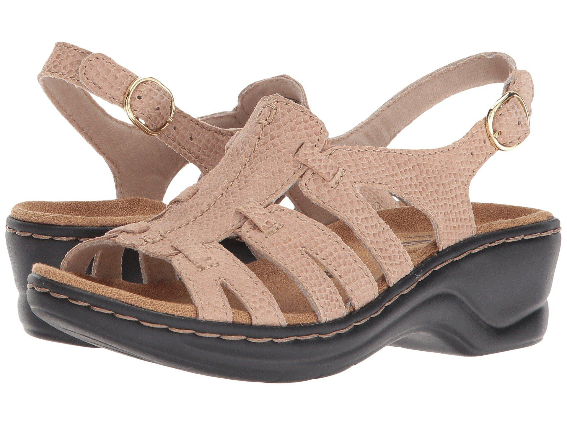 a352c6ebe05 Lyst - Clarks Lexi Marigold Q (pewter Leather) Women s Sandals