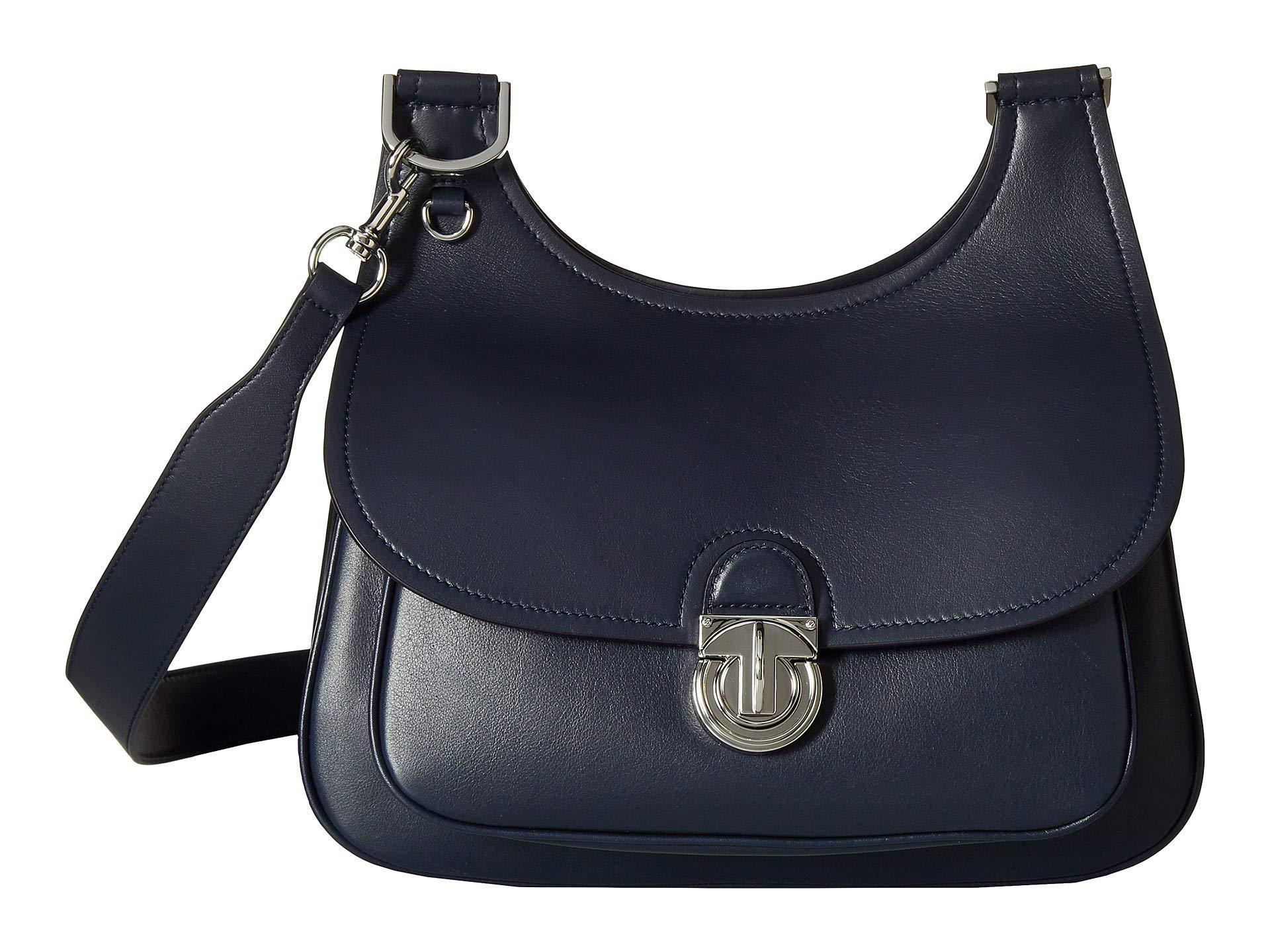 76a674467b1 Lyst - Tory Burch James Saddlebag (moose) Handbags in Blue