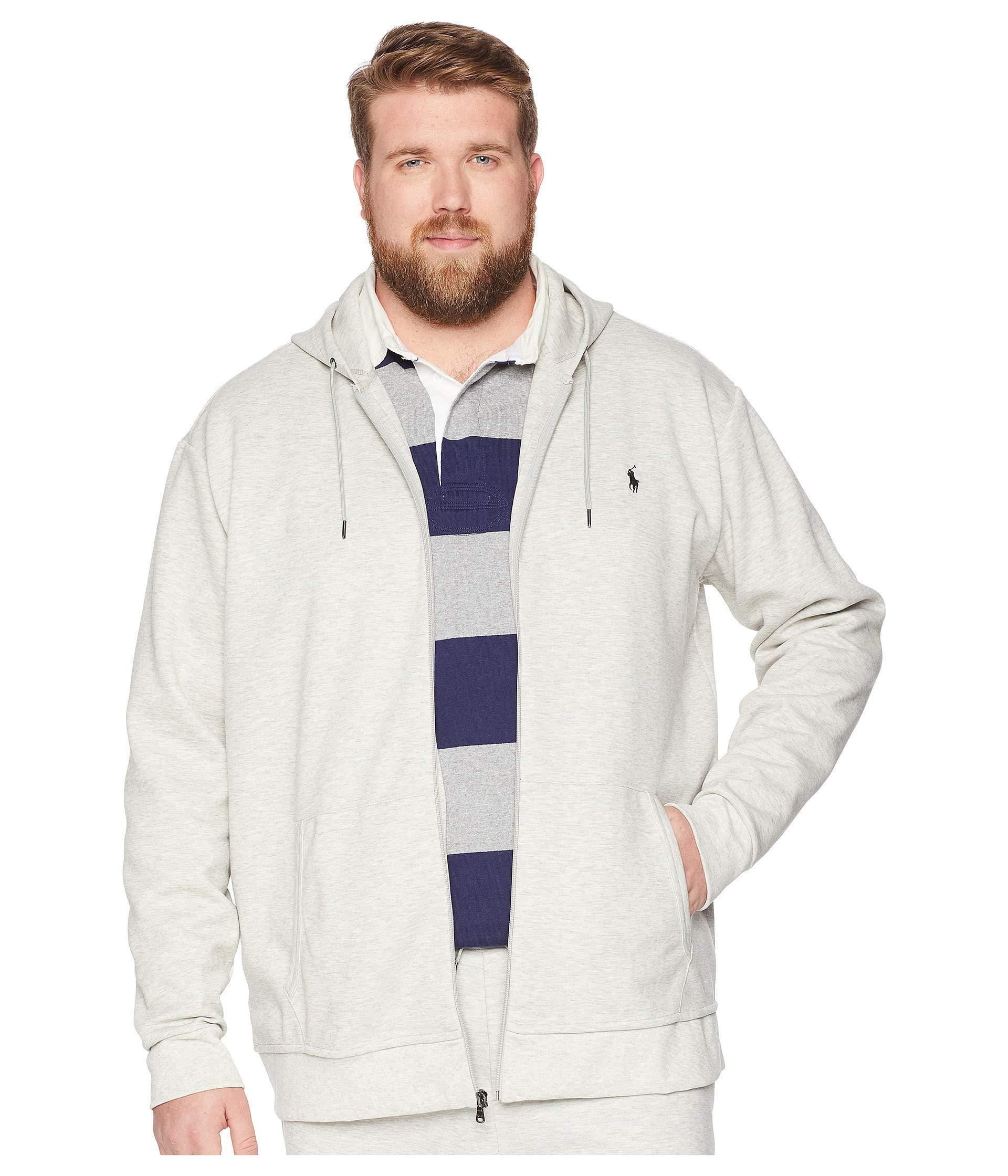 Lyst - Polo Ralph Lauren Big Tall Double Knit Full Zip (light Sport ... e70aa12fe