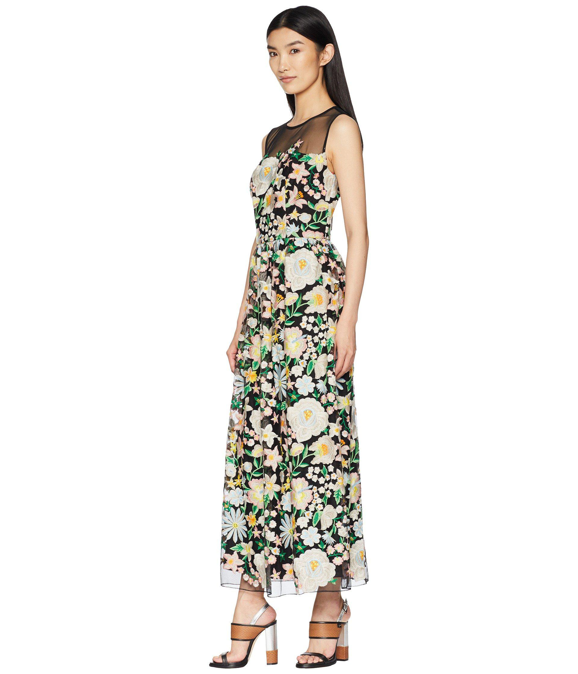 740bfdbb3872 Lyst - ML Monique Lhuillier Floral Embroidery Cocktail Dress With Mesh Yoke  (peony Garden) Women s Dress