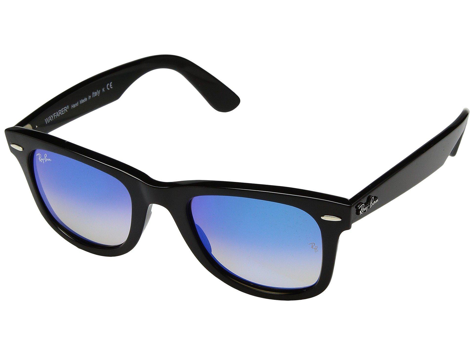 4fd26cf45c Lyst - Ray-Ban Wayfarer Ease Rb4340 50mm (black polarized Green ...