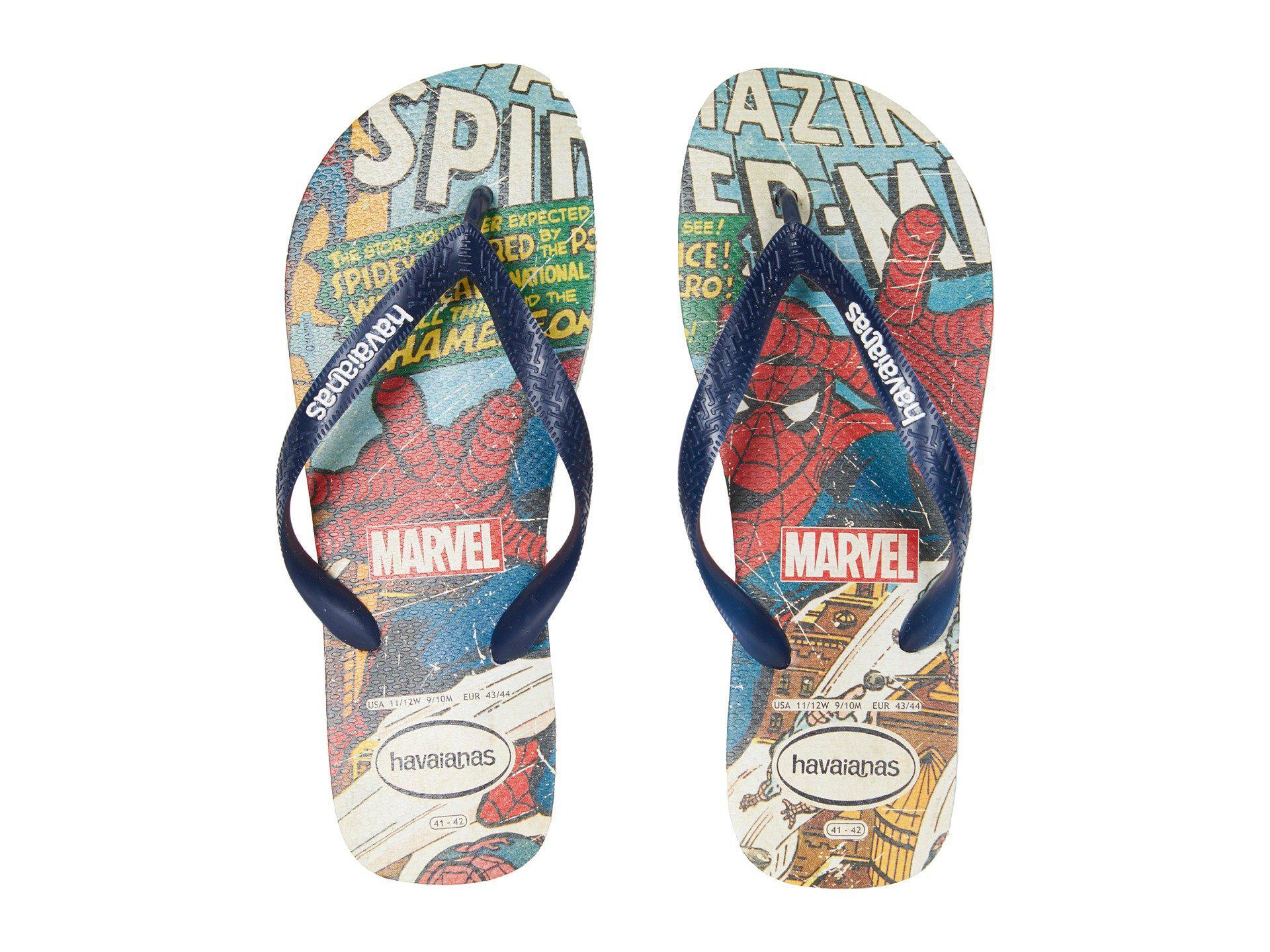 503727a8831111 Lyst - Havaianas Marvel Spiderman Flip-flops in Blue for Men