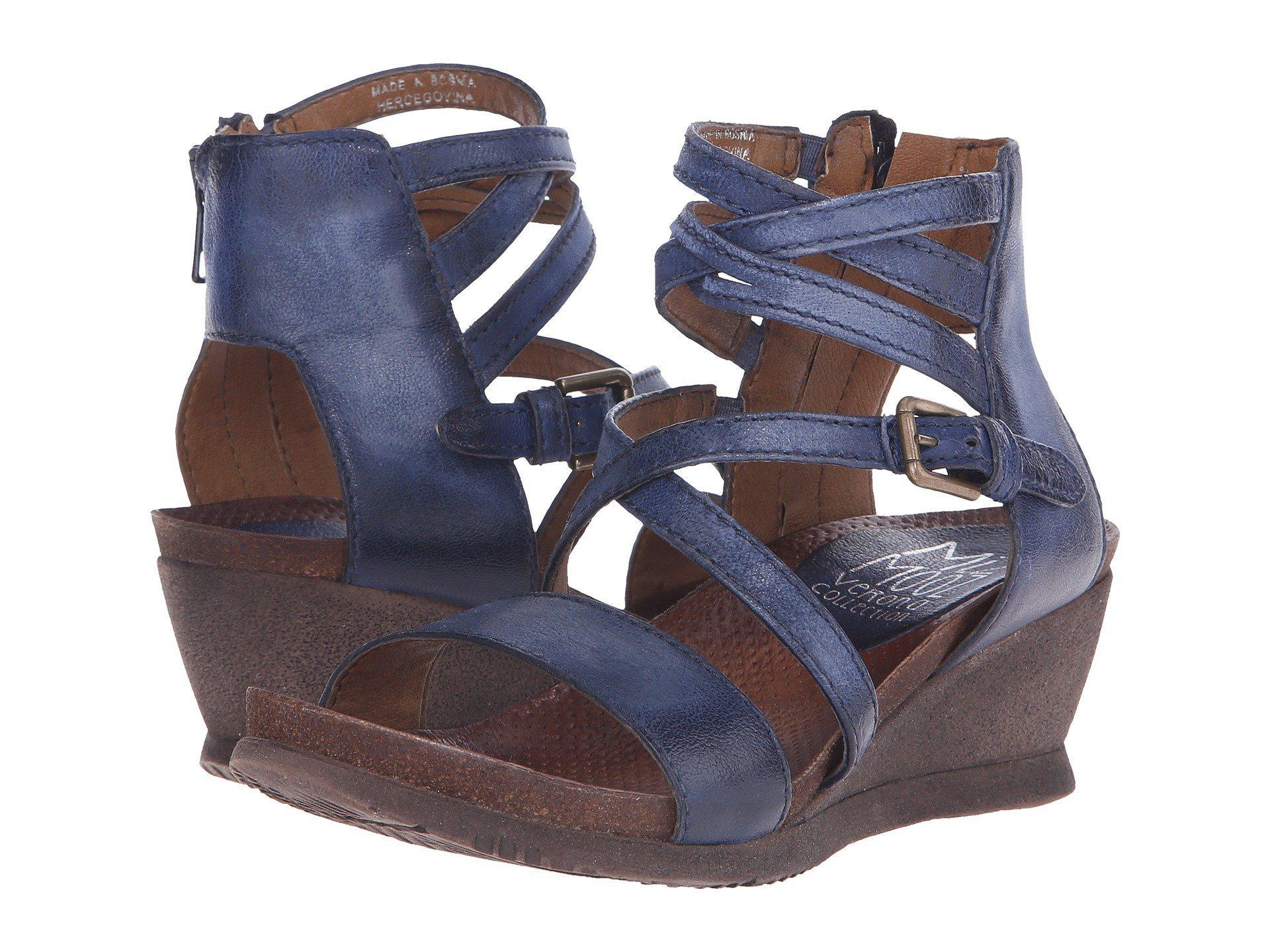 613d7ca69c2d Lyst - Miz Mooz Shay (nickel) Women s Wedge Shoes in Brown