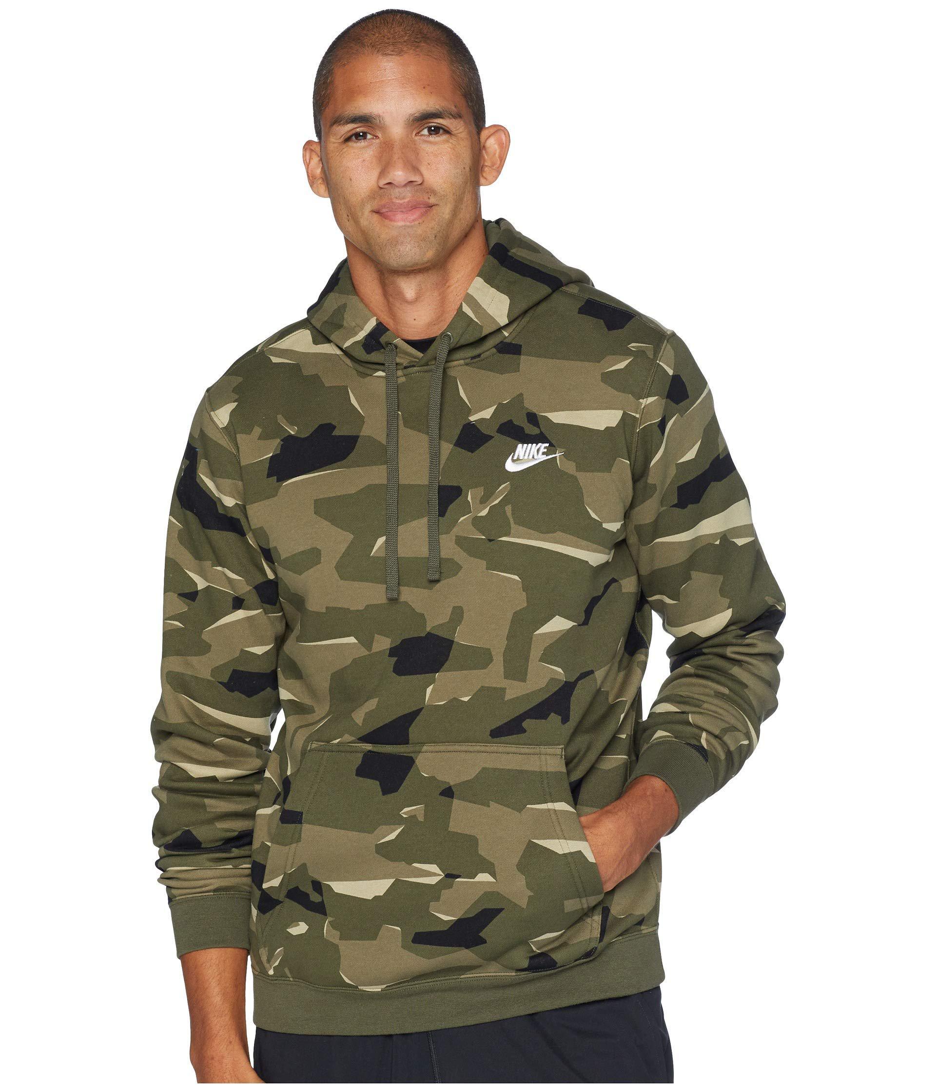 abea6f29fc38 Lyst - Nike Nsw Club Camo Hoodie Pullover Bb (midnight Navy midnight ...