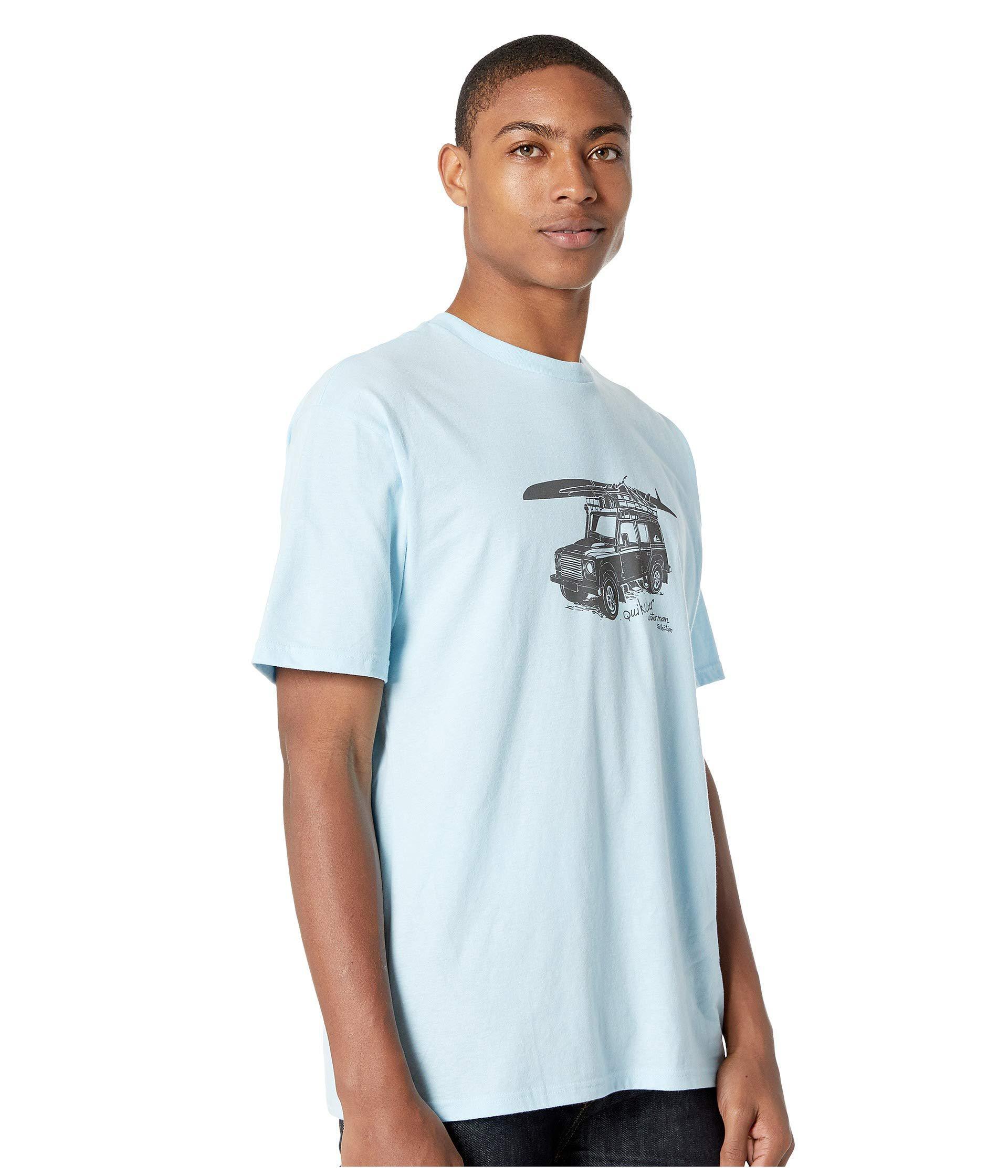ba017a662c Lyst - Quiksilver Seto Gorge Short Sleeve Tee (crystal Blue) Men s T ...