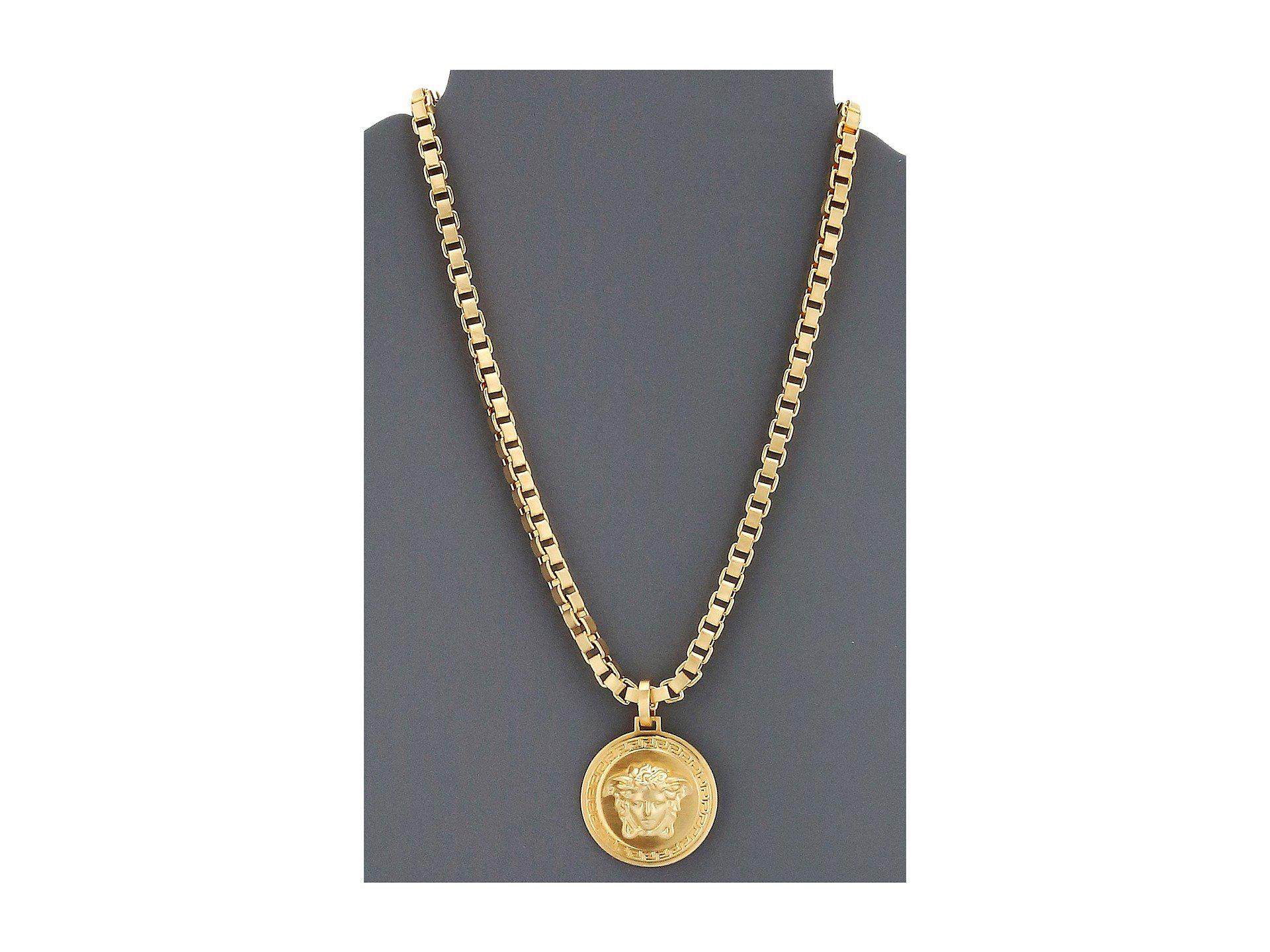 rope medusa chain pendant with plated medallion men halukakah gold mens free real daddy s big necklace