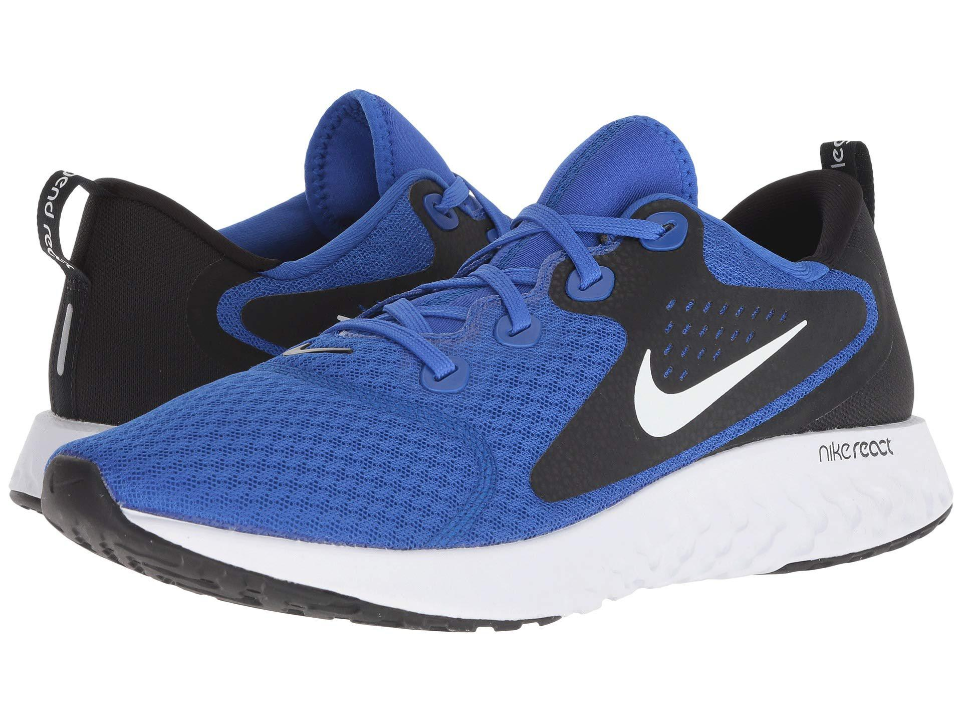 5d97d467c4b801 Lyst - Nike Legend React (blue Force volt black white) Men s Running ...