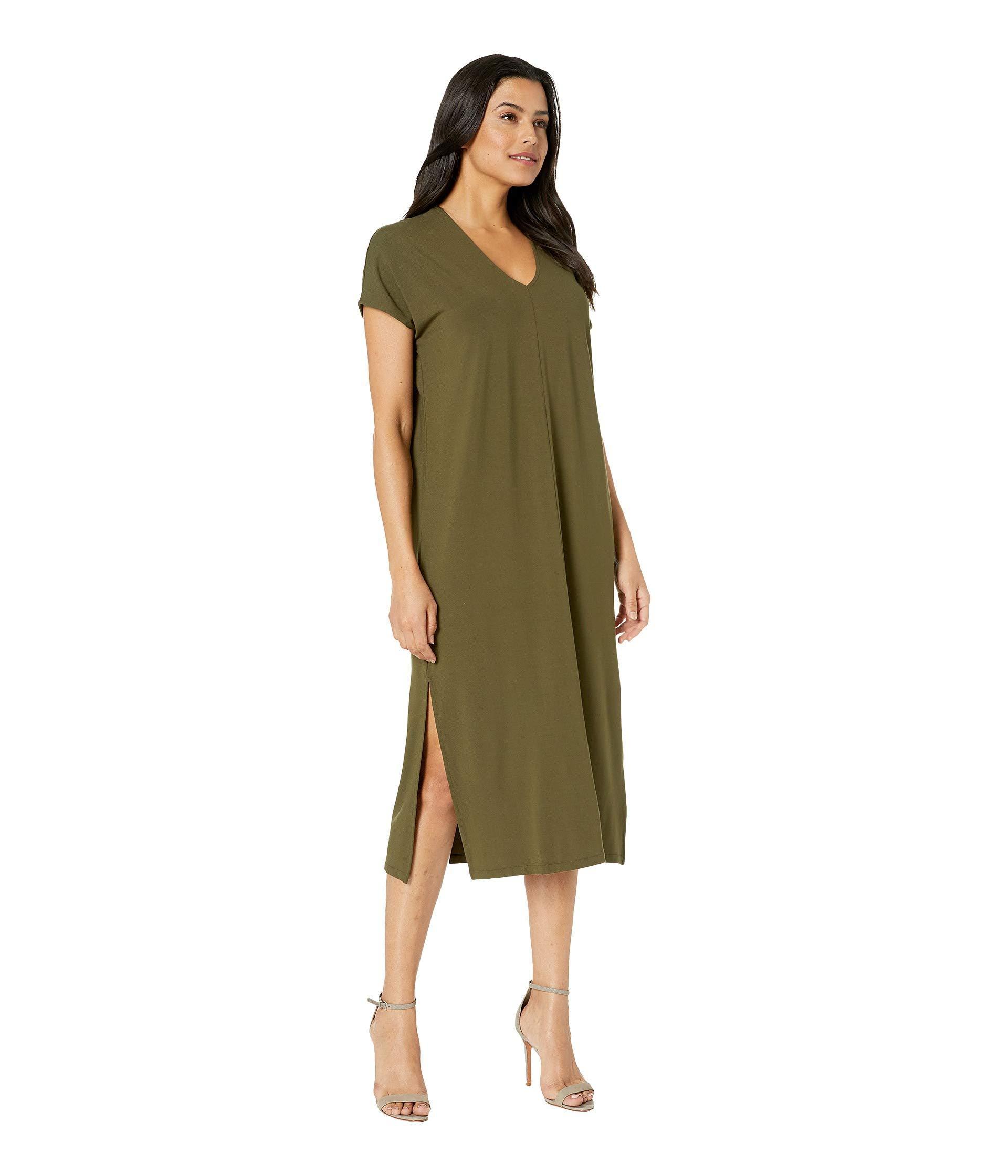 03ddf8d2b5b7a Lyst - Lilla P Double V-neck Dress (black) Women's Dress in Green