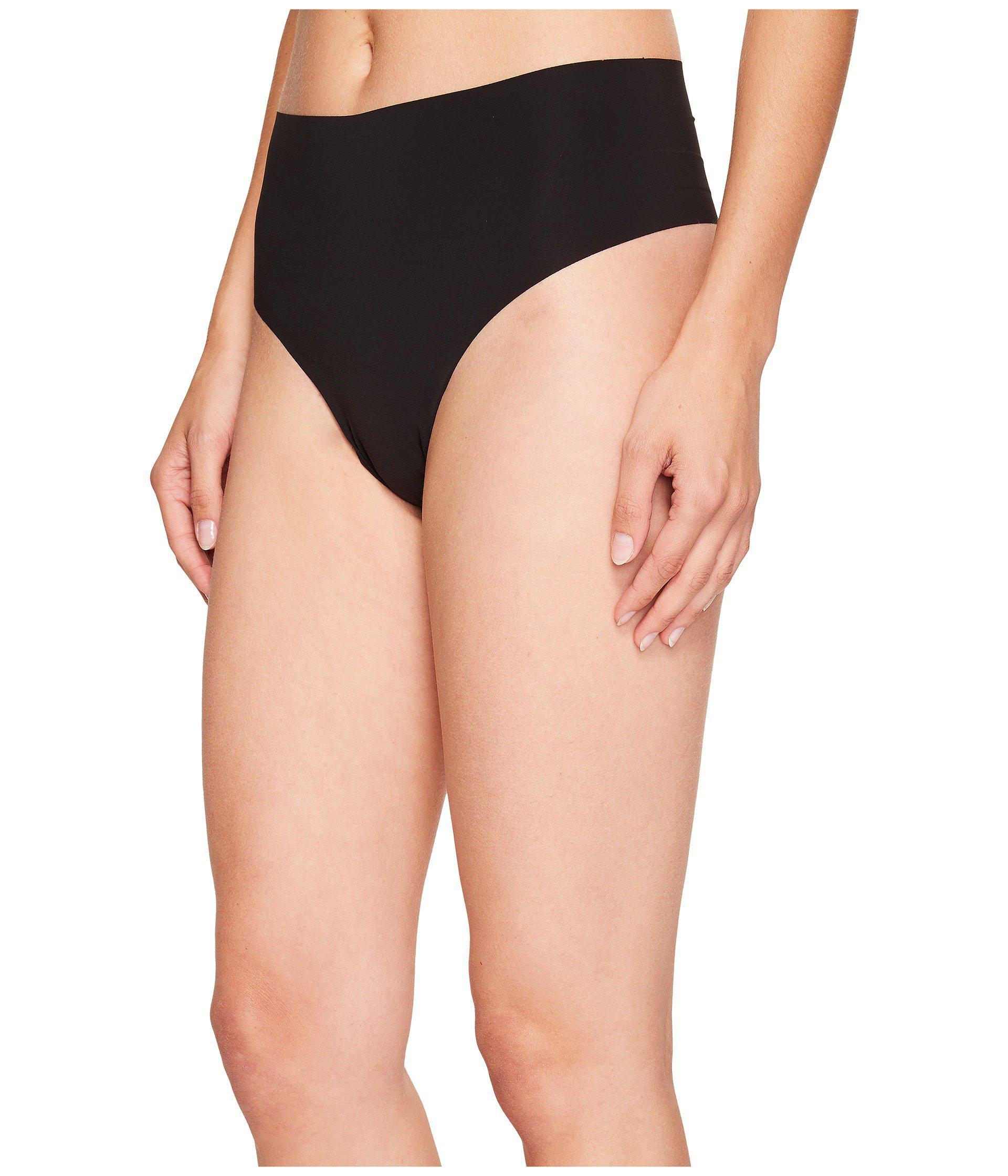 f2f96f5a18c52 Lyst - Commando Solid High-rise Thong Hrt01 (black) Women s Underwear in  Black