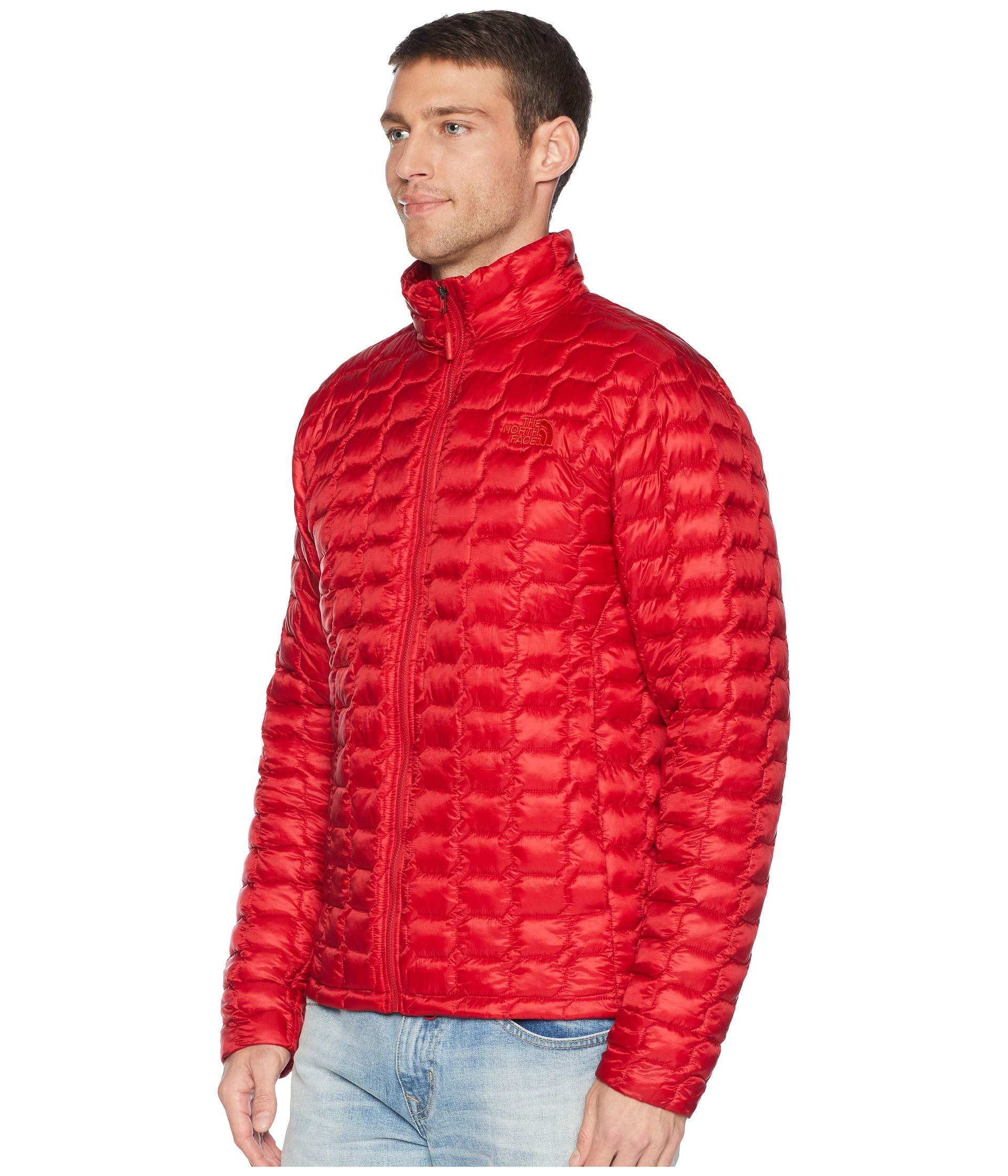 c2162b302b Lyst - The North Face Thermoball Jacket (zion Orange Matte) Men s Coat in  Red for Men